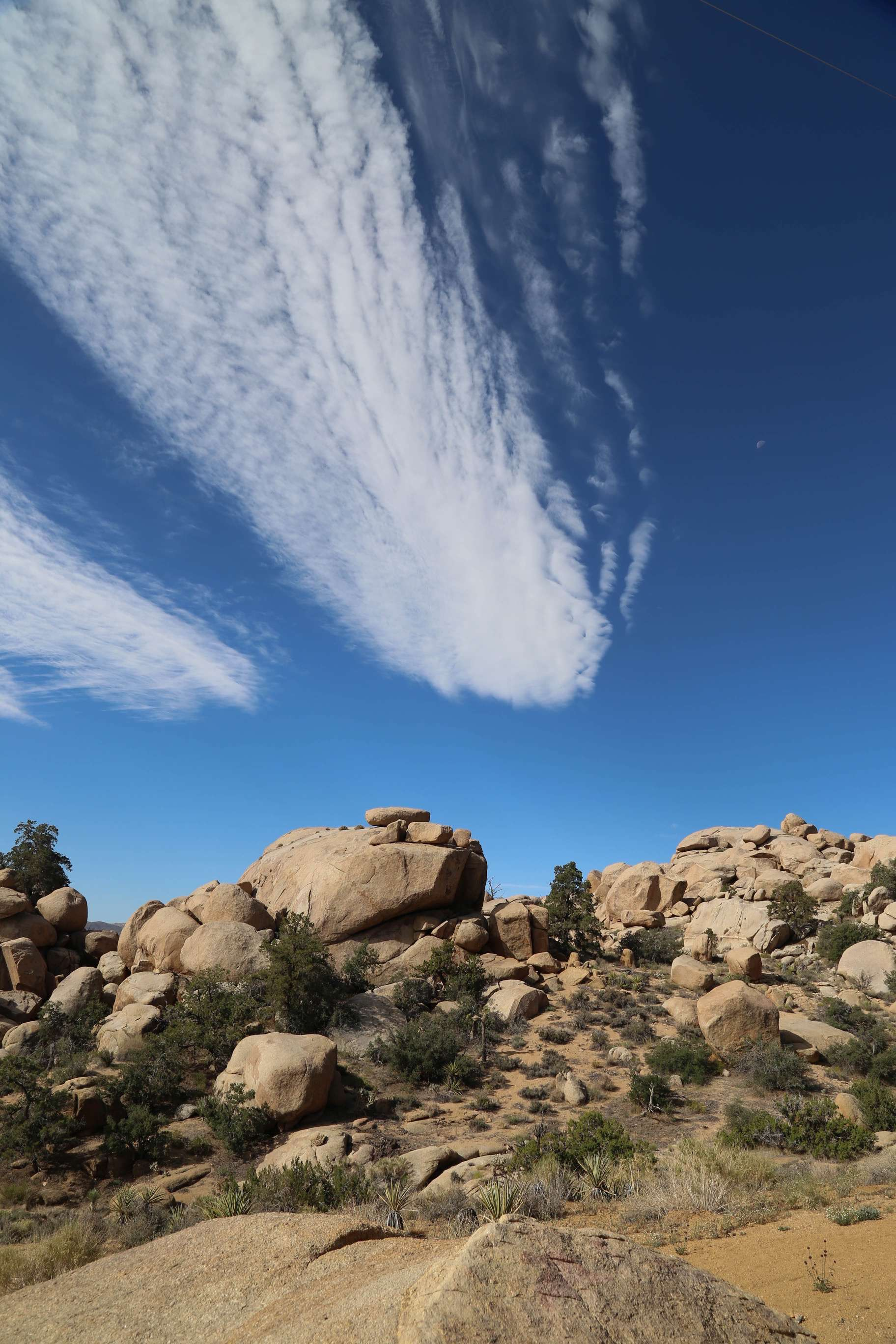 Stunning blue sky, clouds and land merge into serenity in Pioneertown.