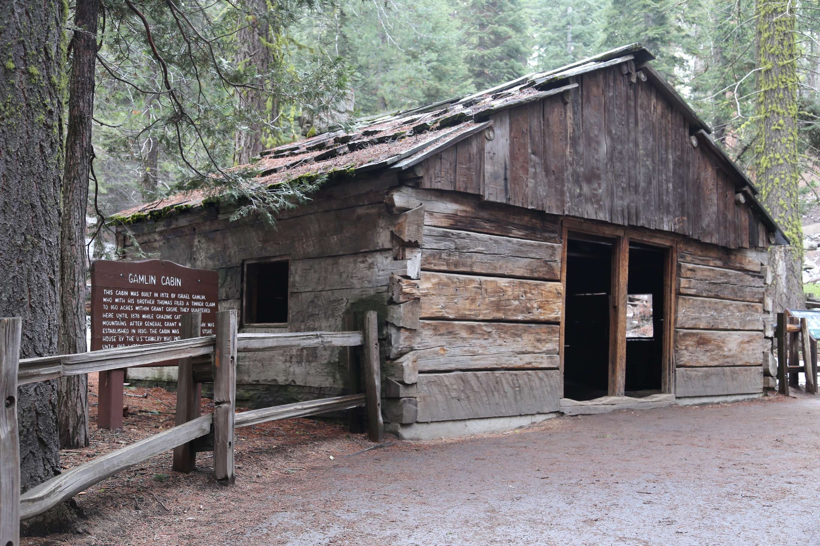 Gamlin built this cabin in KCNP and he was another settler trying to make a go of it in the fragile mountain country. Dreams were big but conditions were harsh.