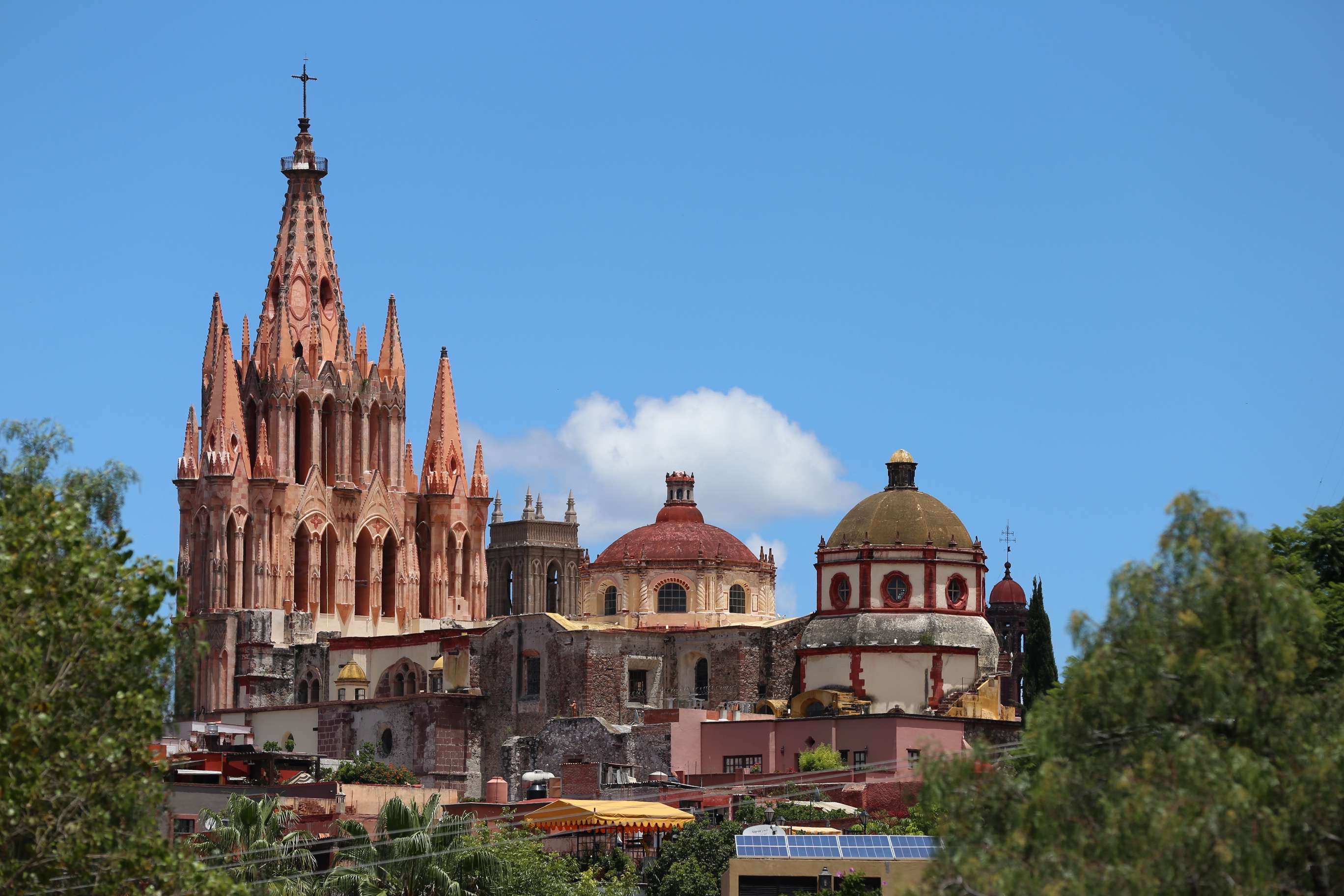 The Instituto Allende offers a great location to captures some of the city's churches.