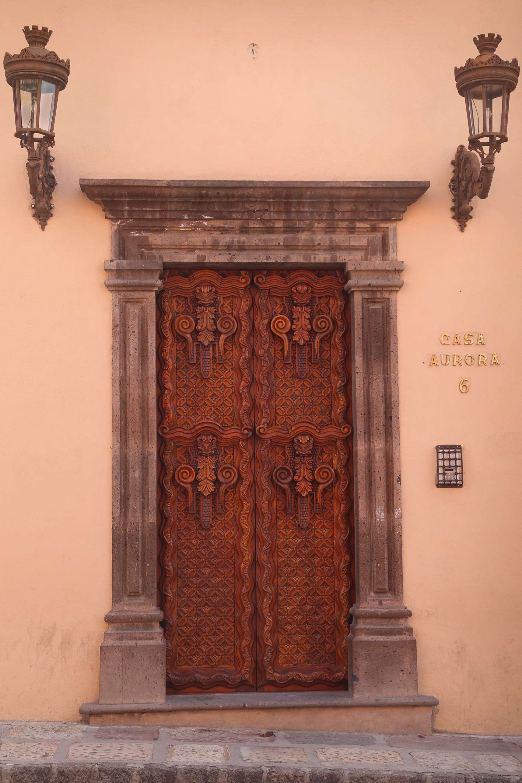 Elegant entryway.