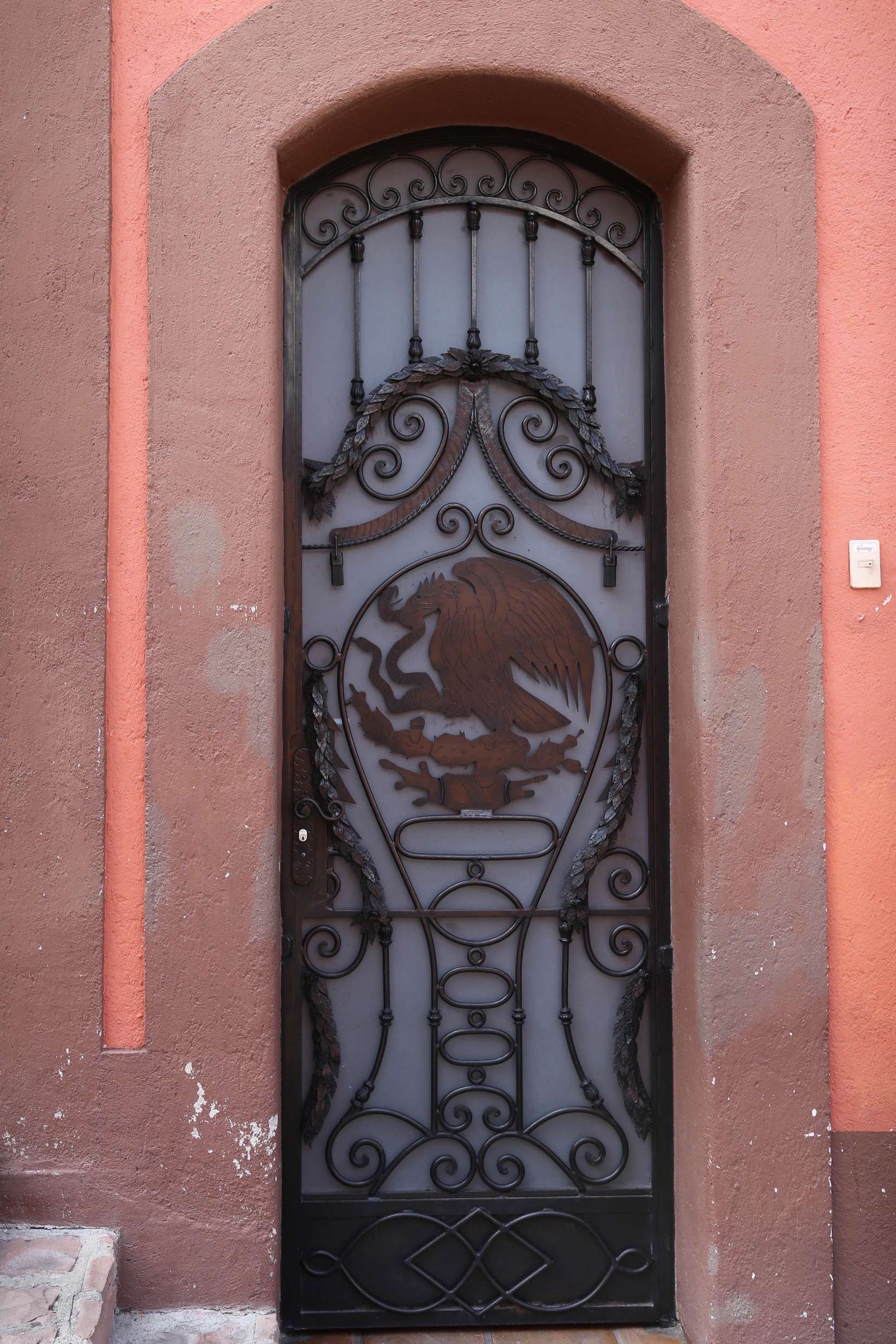This door declares the owners' patriotism for Mexico.