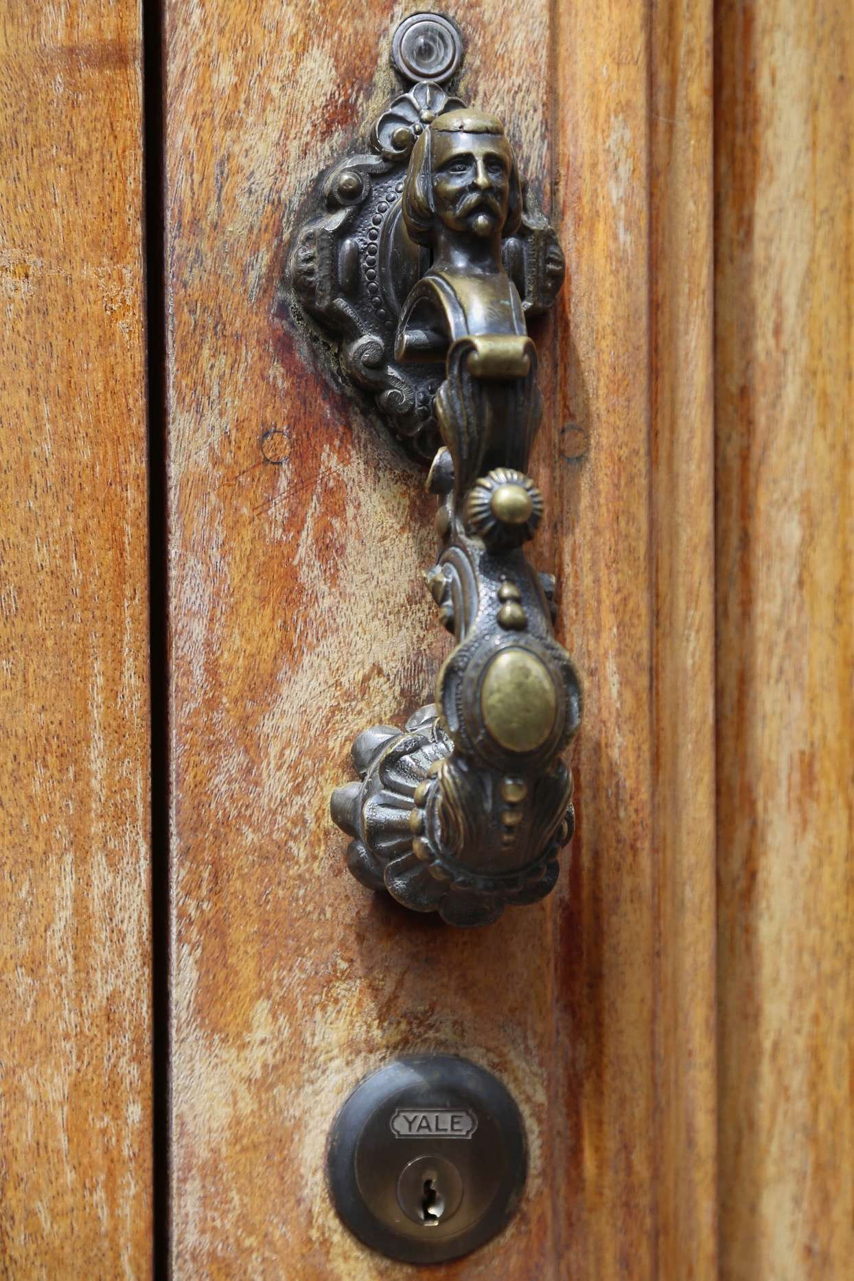The details of the doorknockers are often as interesting as the door itself.