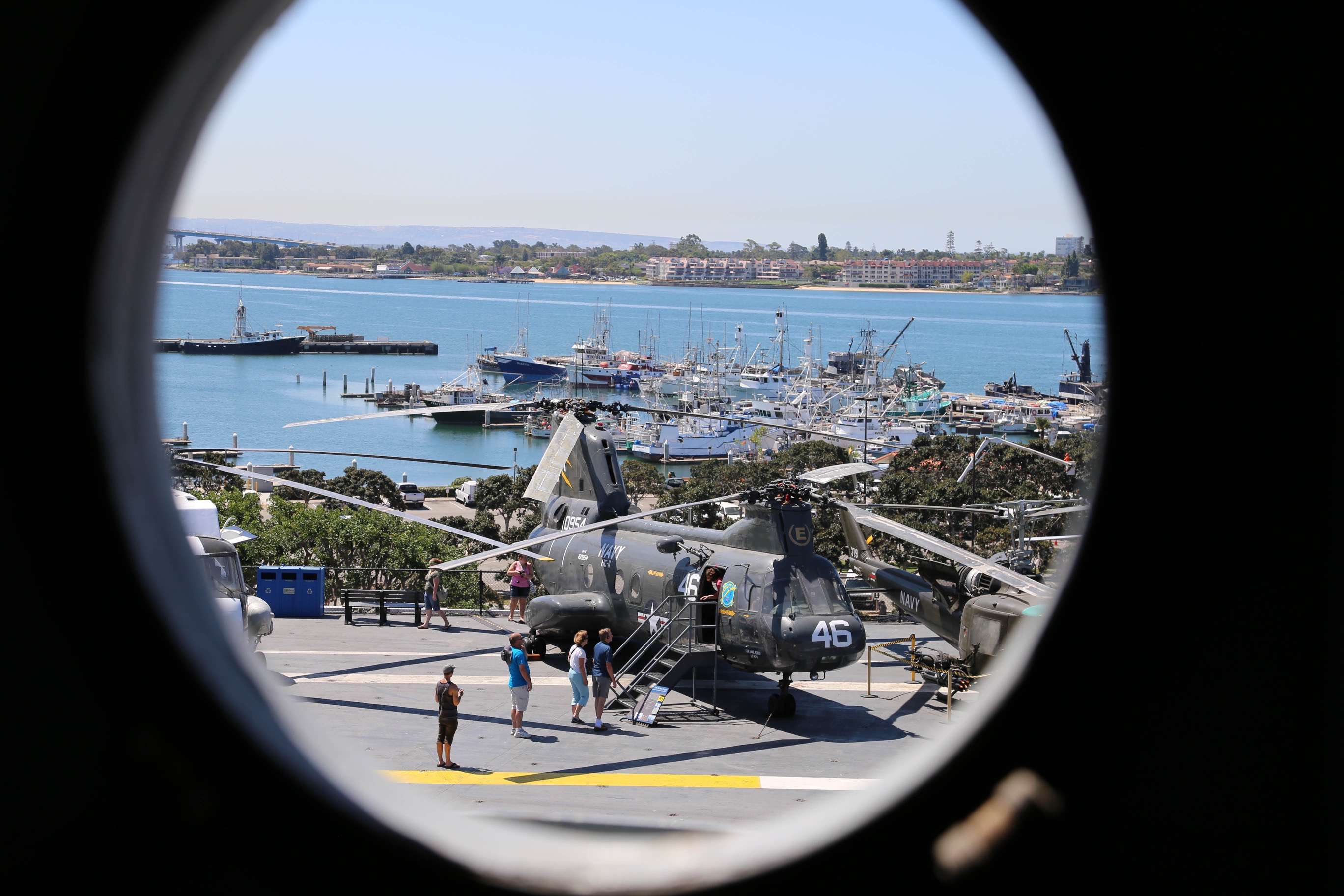 You can easily spend the entire day aboard the USS Midway, with great views from almost anywhere.