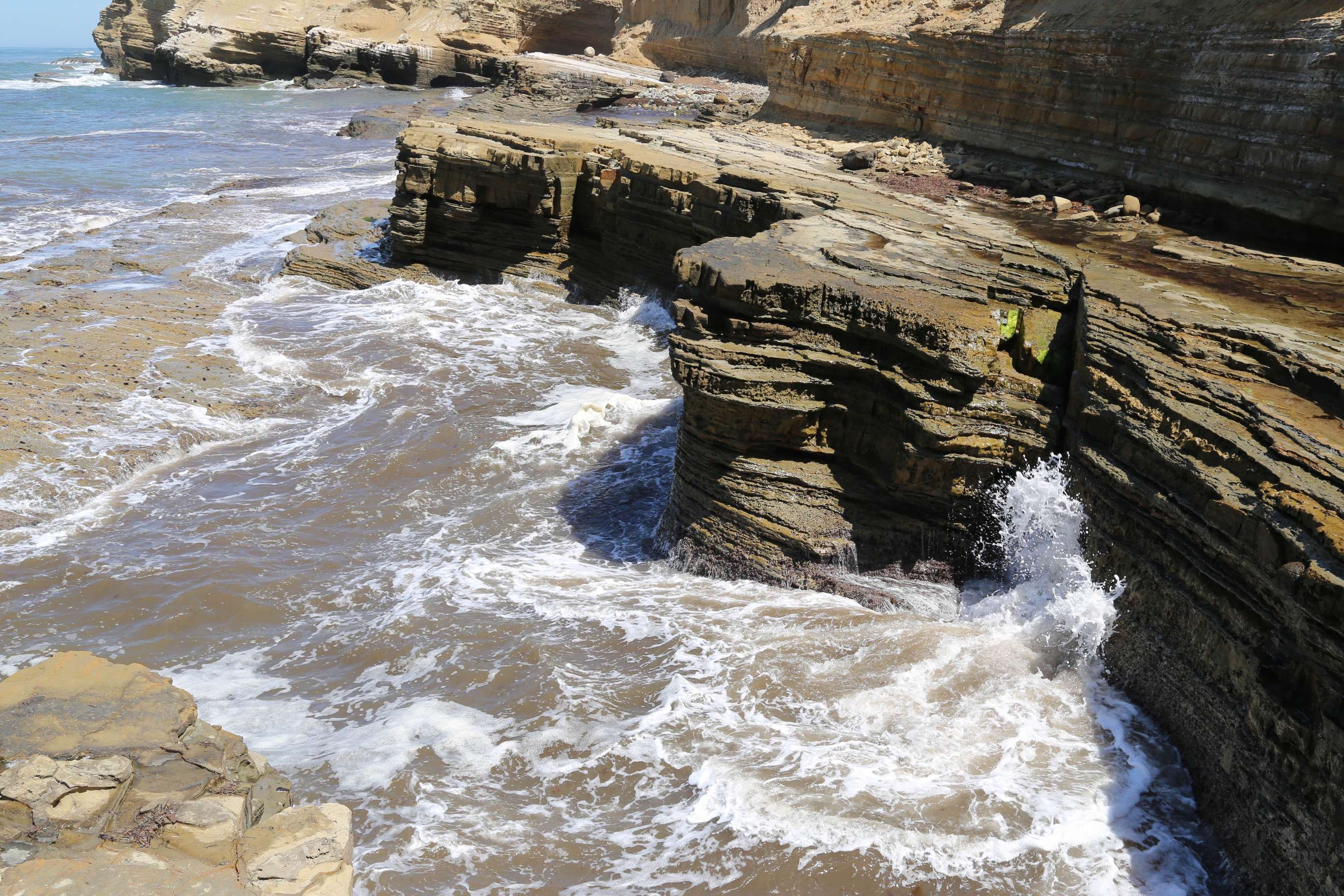 San Diego's geology has both sandstone, and...