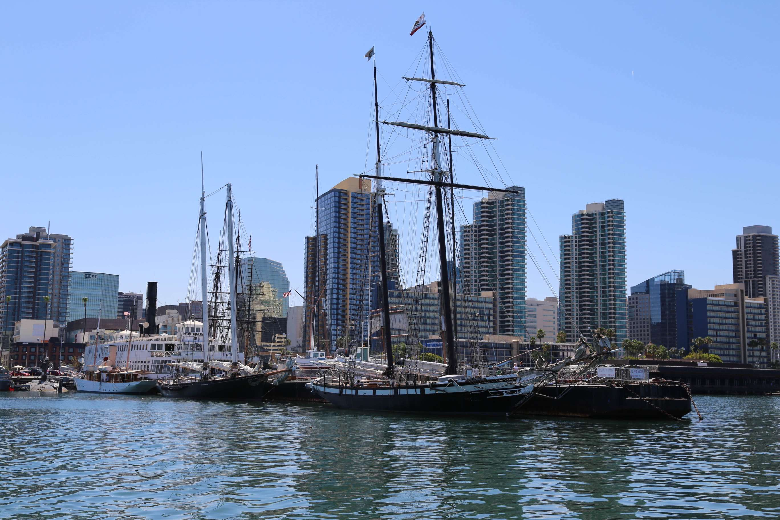 San Diego has a wonderful collection of old sailing ships that are convenient to the downtown area.