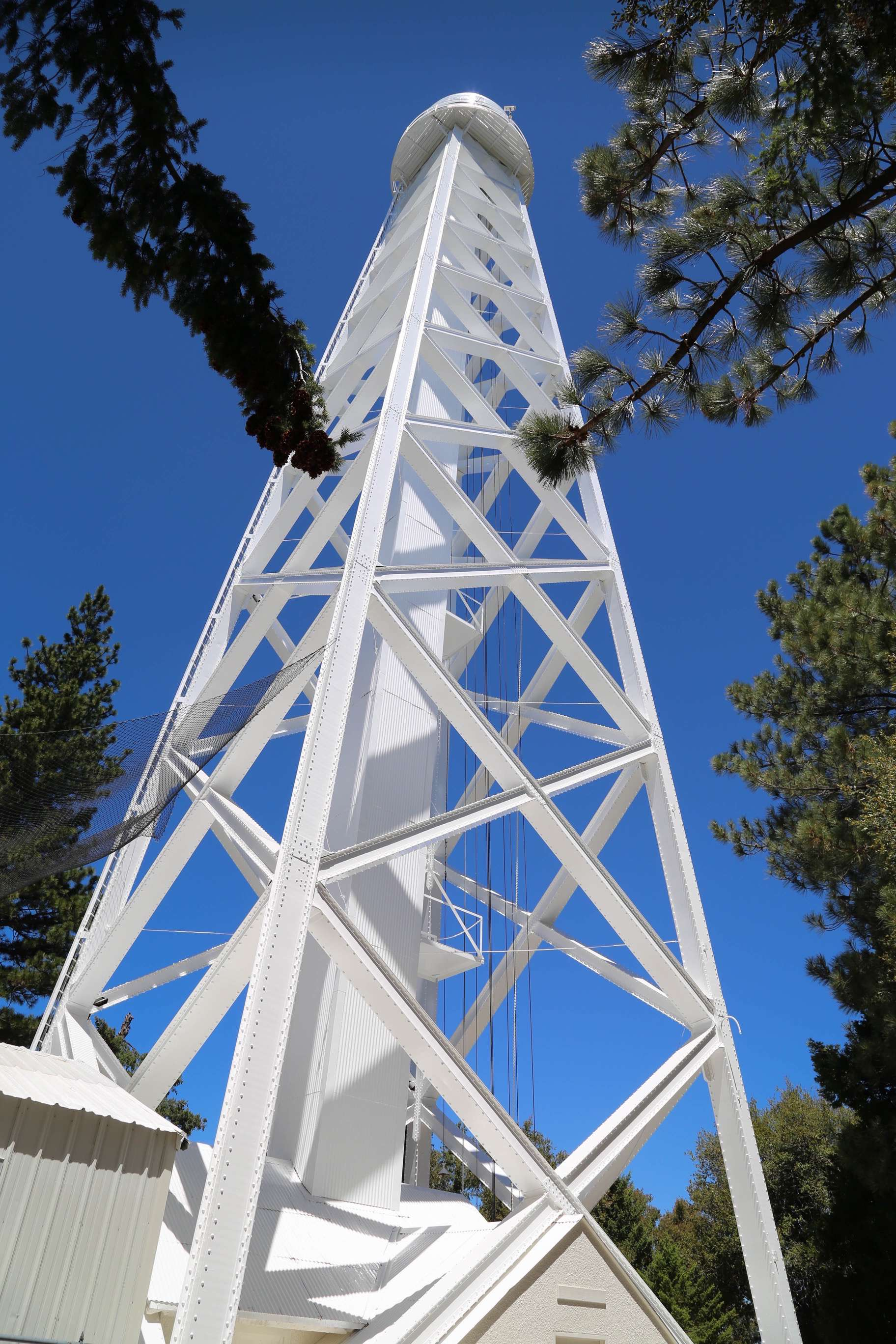 Solar observatories, like the 150-foot tower, were used by George Ellery Hale to understand that sunspots and magnetism have a relationship.