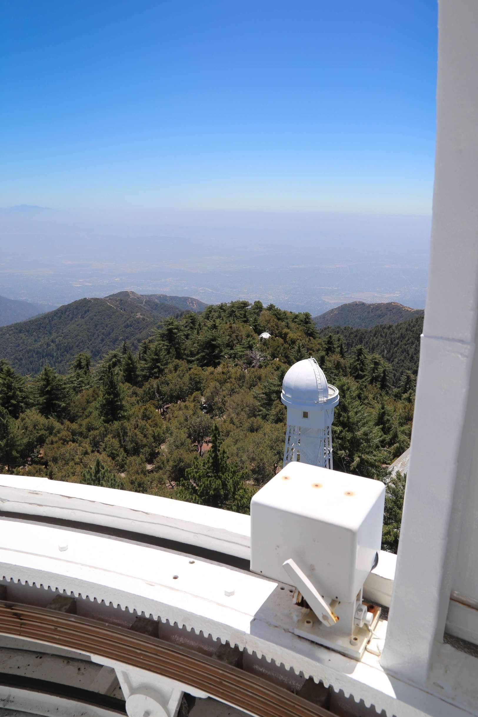 The top of the 150-foot solar observatory is a great place to view the countryside, or in this case, the 60-foot solar observatory.