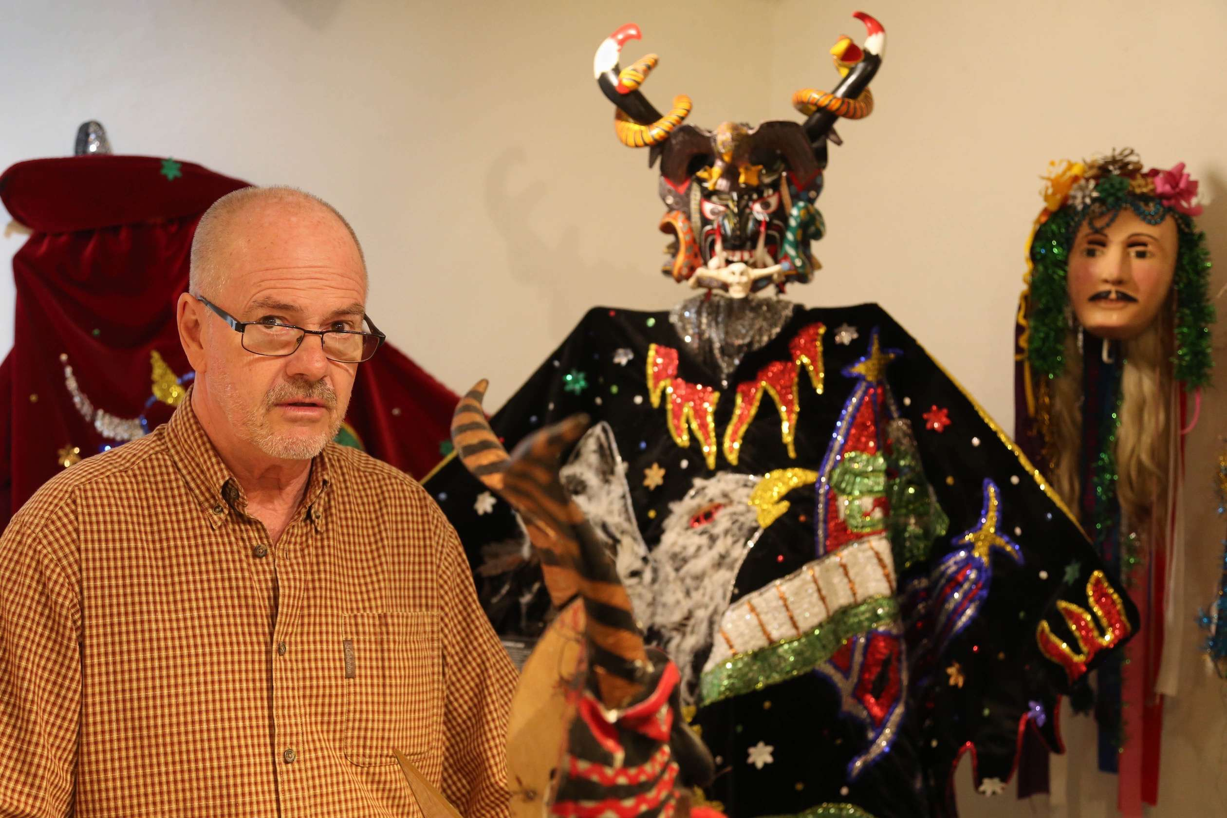 Bill LaVasseur, owner and curator of La Otra Cara de Mexico (The Other Face of Mexico), is passionate about sharing his knowledge of masks and their place in the culture of Mexico.
