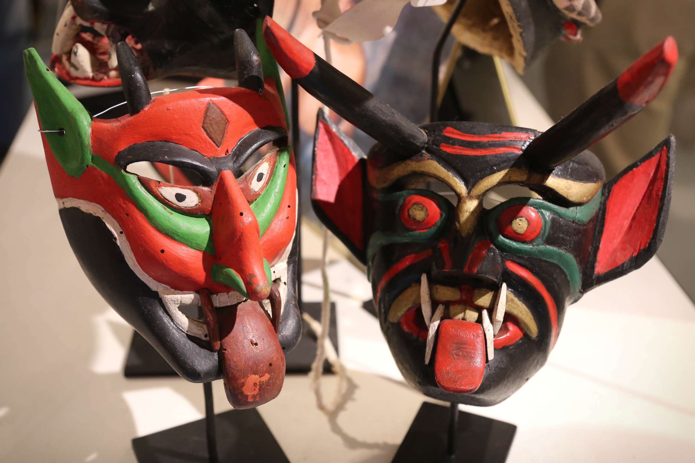 To some, these masks might be frightening, but to others, they represent important aspects of culture and history.