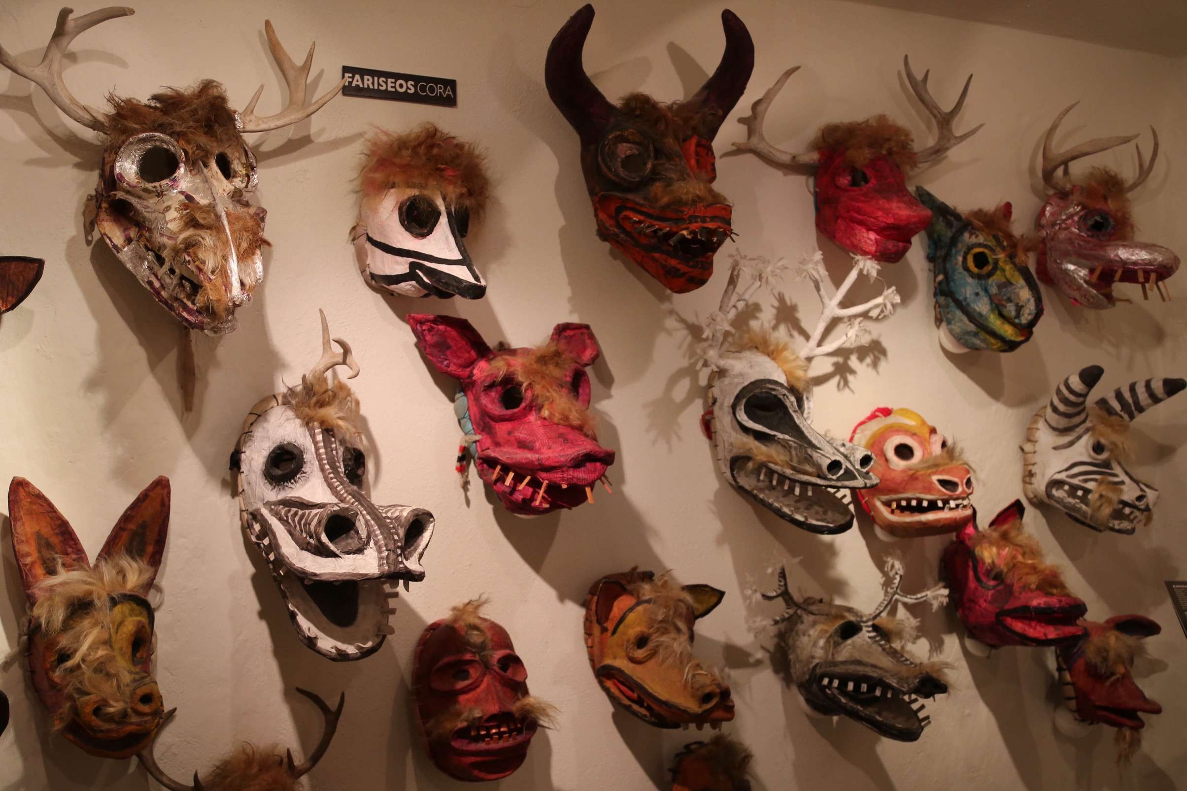 Masks are representative and transformative to evoke emotions during fiestas and celebrations.