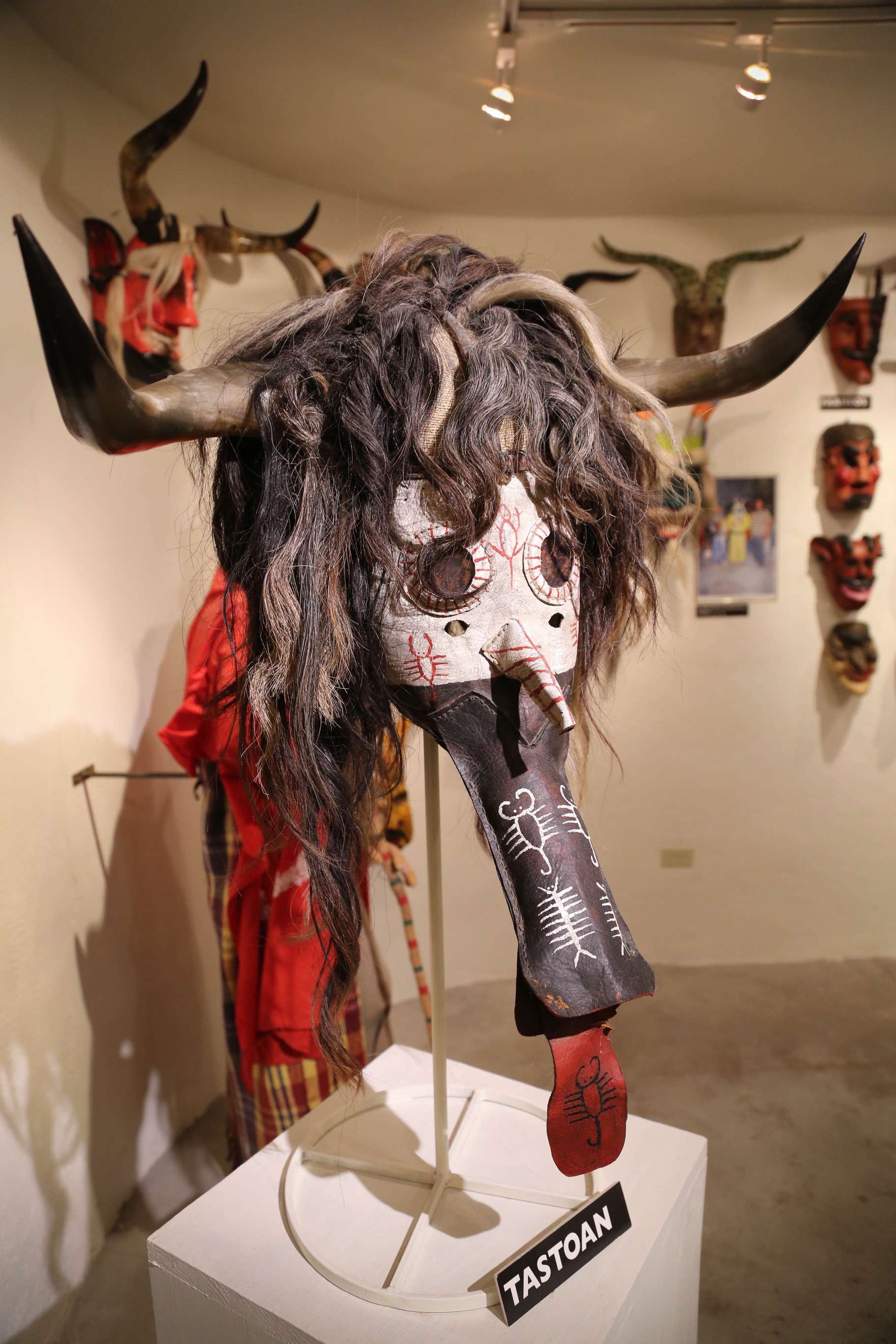 Each mask is distinctive and represents the talent of the maker and the feeling being conveyed.