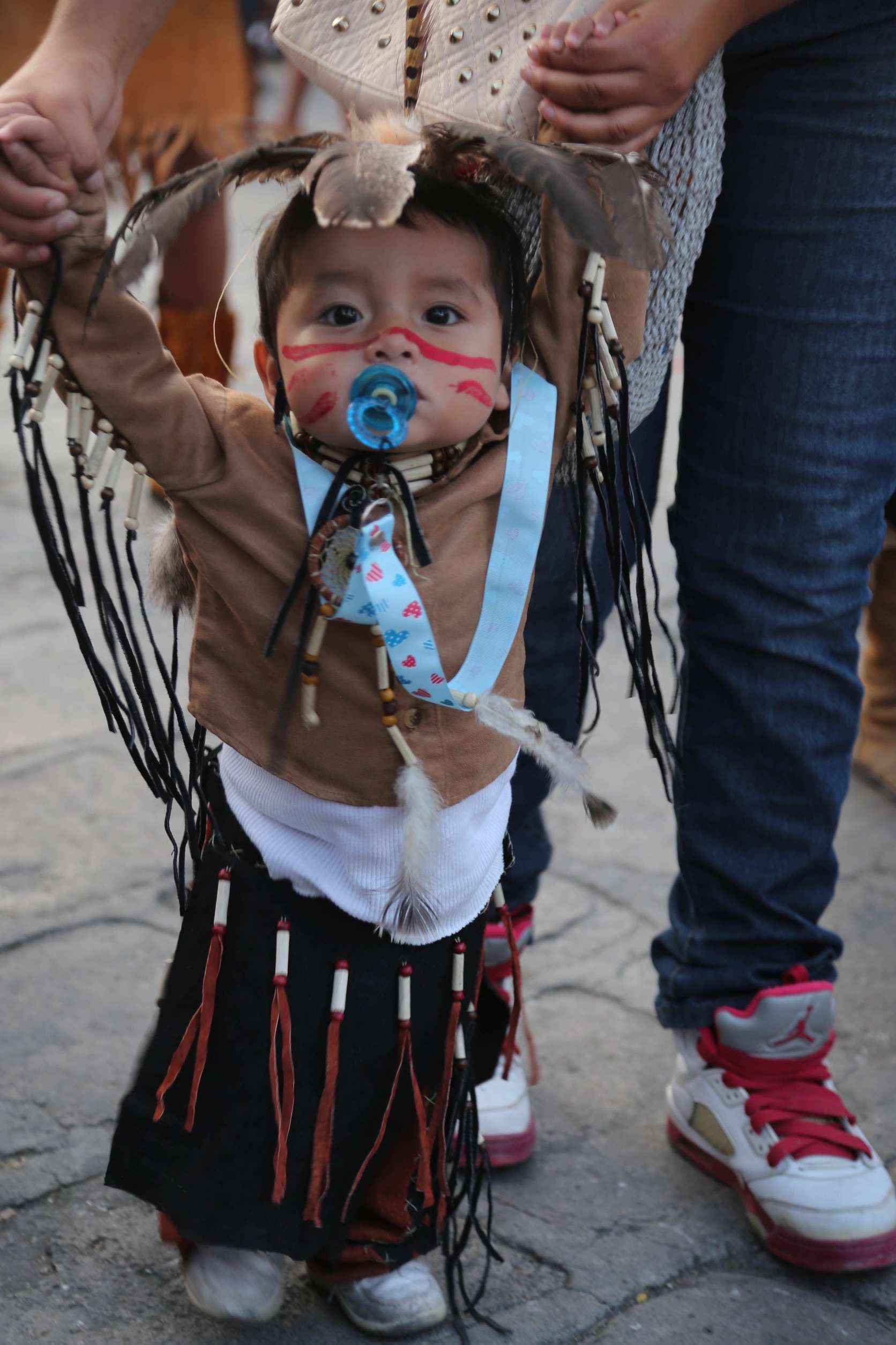 In San Miguel de Allende, even the very young participate in the parade.