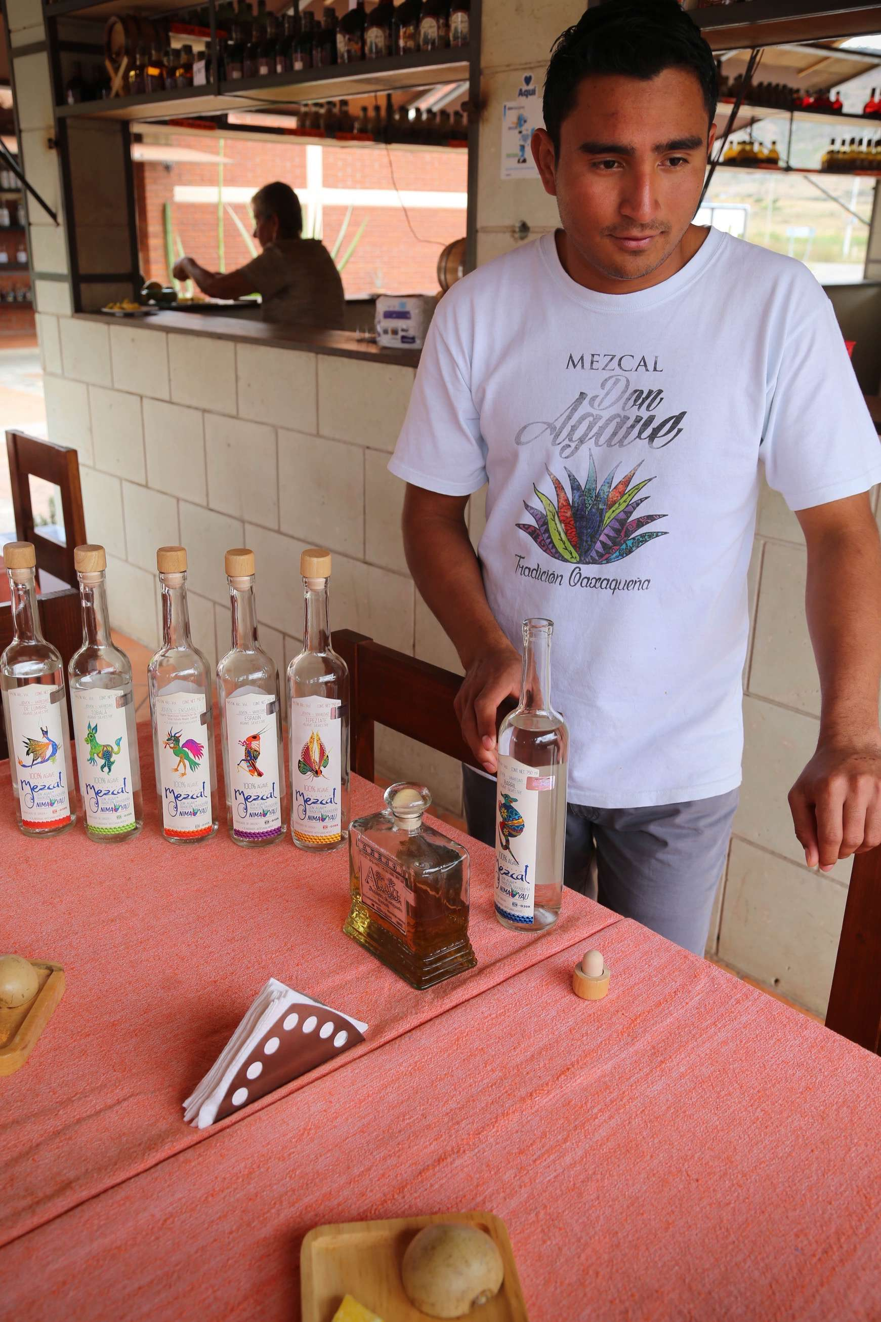 Explaining the subtlety and complexity of the various mezcals is an enjoyable learning experience.
