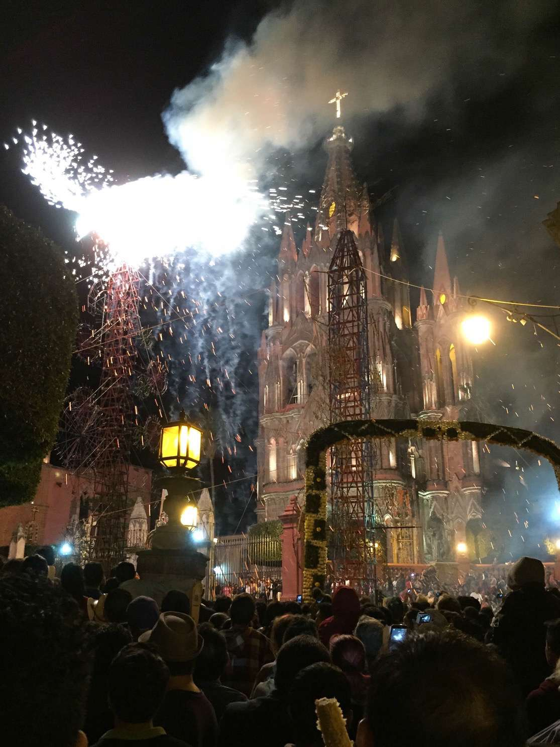 In San Miguel de Allende, fireworks are best viewed up close.