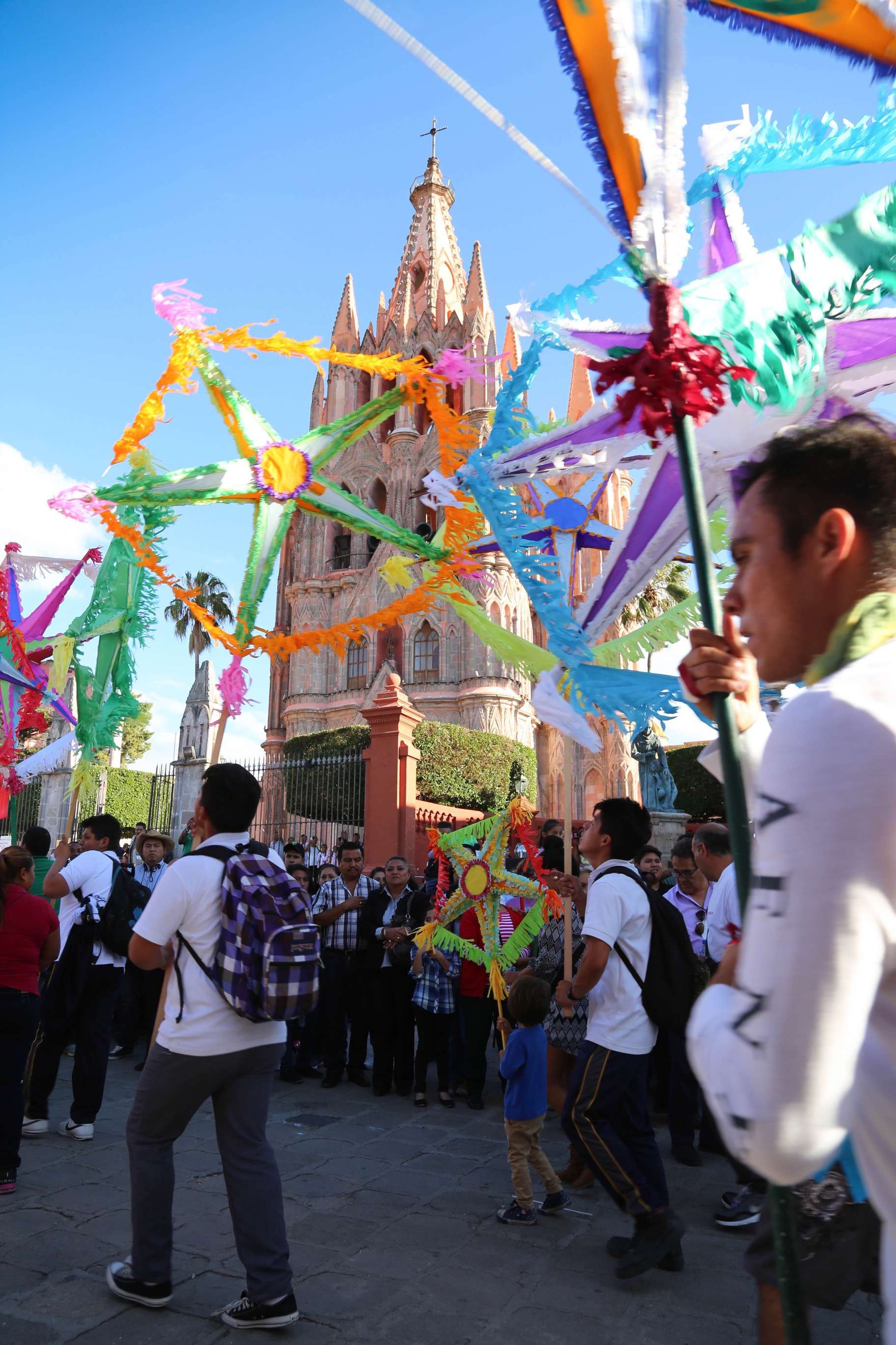 The parades in San Miguel de Allende may not be as tightly choreographed as in California or New York, but they make up for it in enthusiasm.