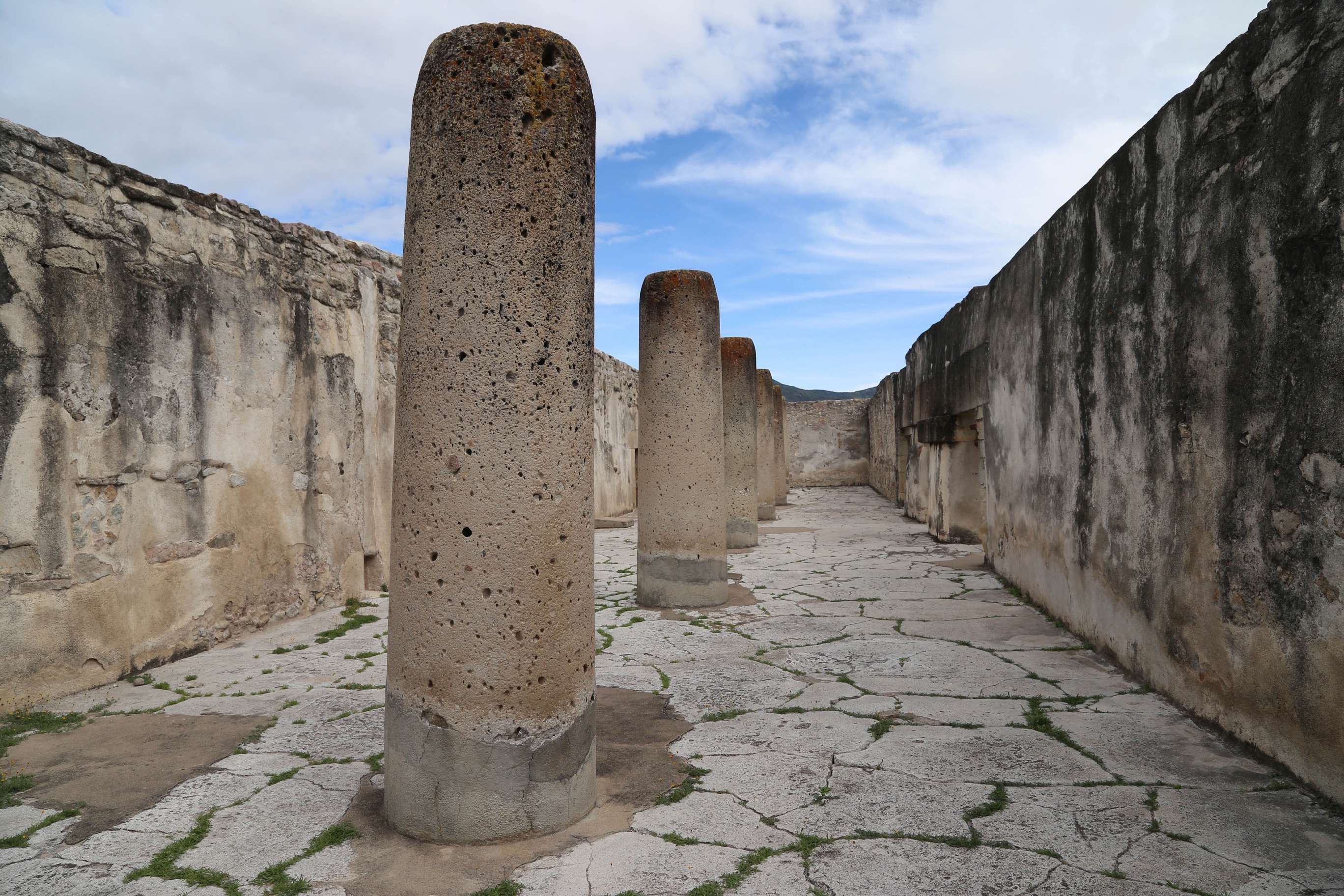 These stone pillars supported the roof and are carved out of volocanic tuff and are the finest examples of their kind in Mexico.