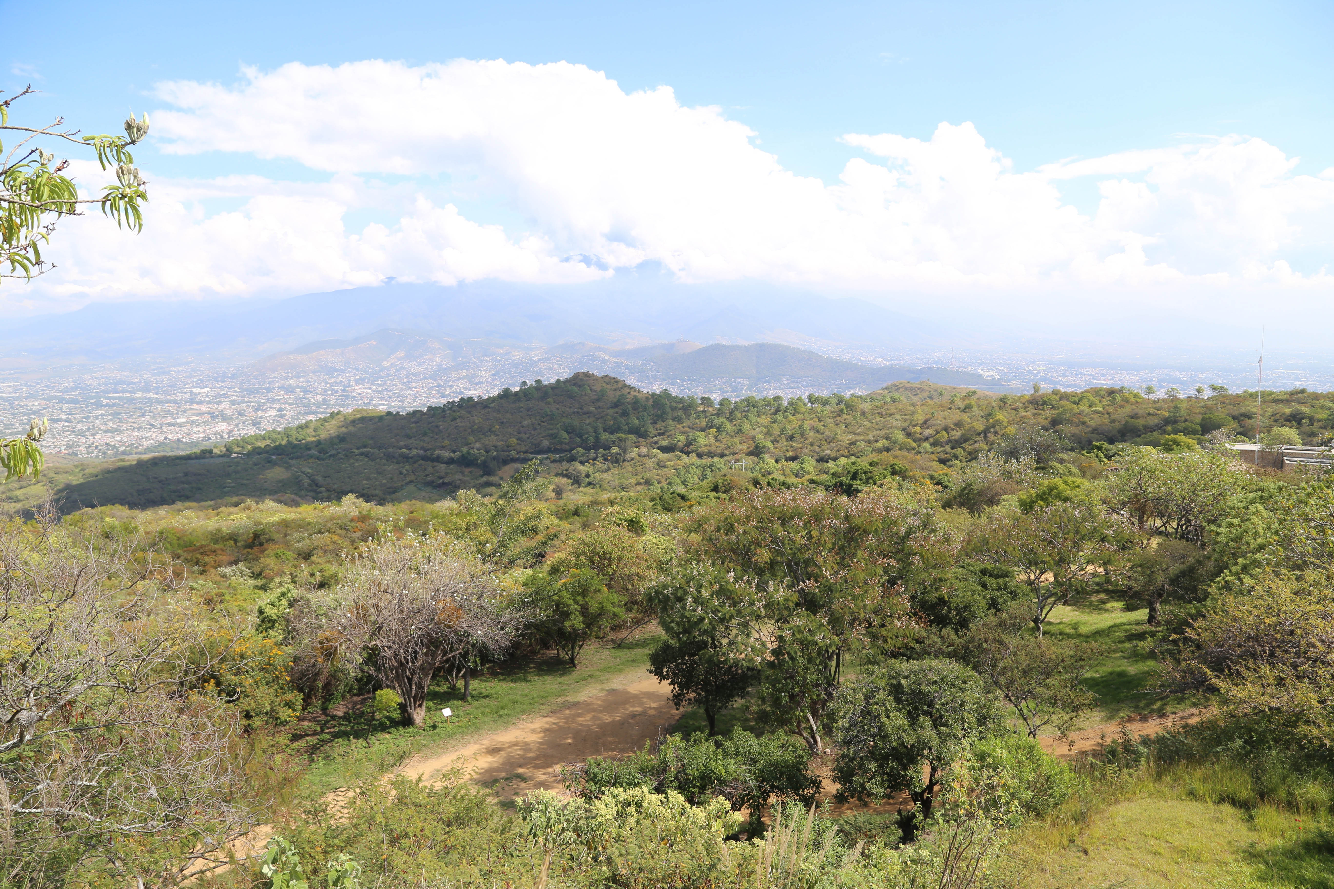 The valley below is where the modern-day city of Oaxaca is located. Monte Alban had no year-round water supply.