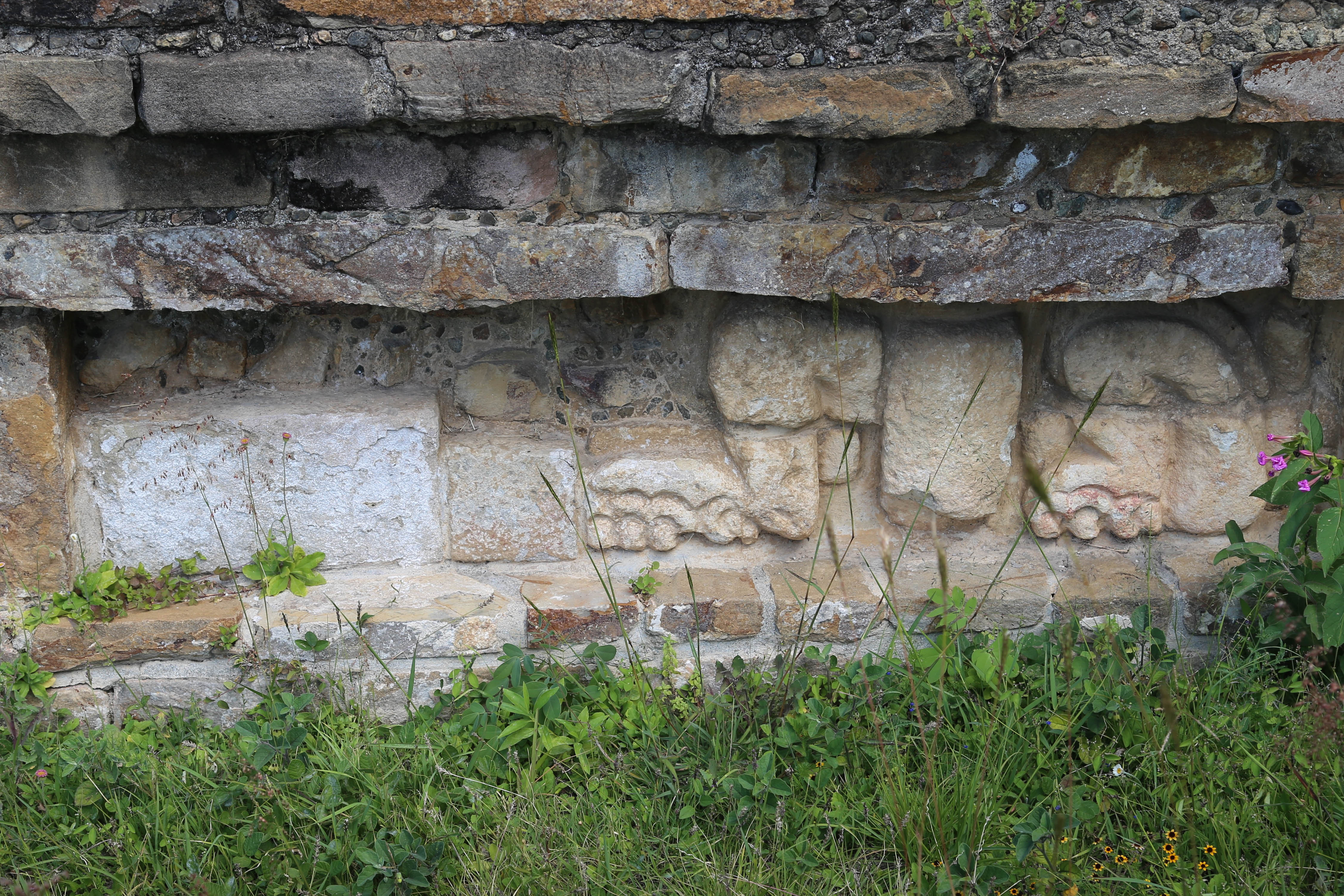 Time has eroded the carving of this stone, like many that were throughout Monte Alban.