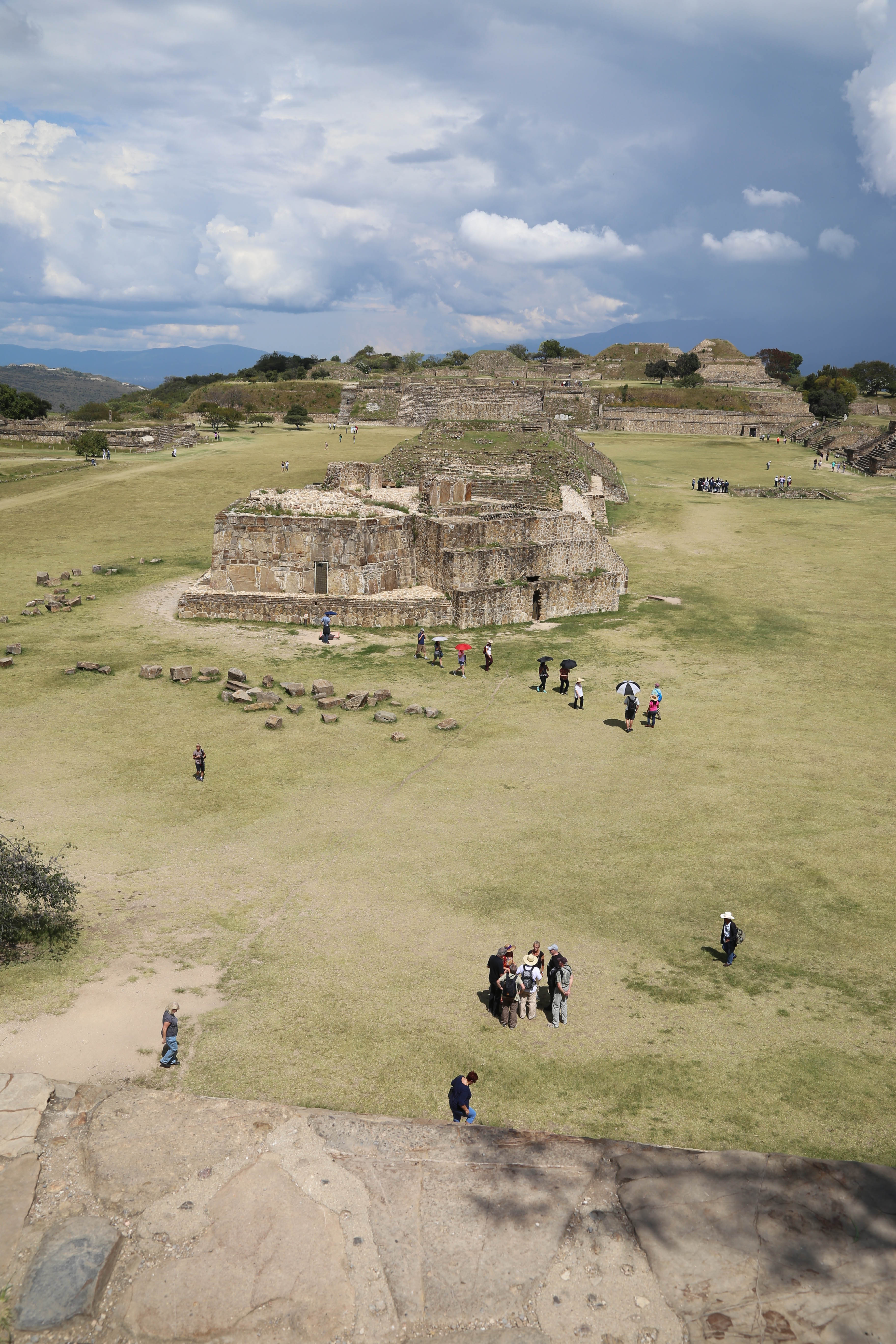 The Great Plaza is thought to have been a place for markets and commerce to take place, among other activity at Monte Alban.