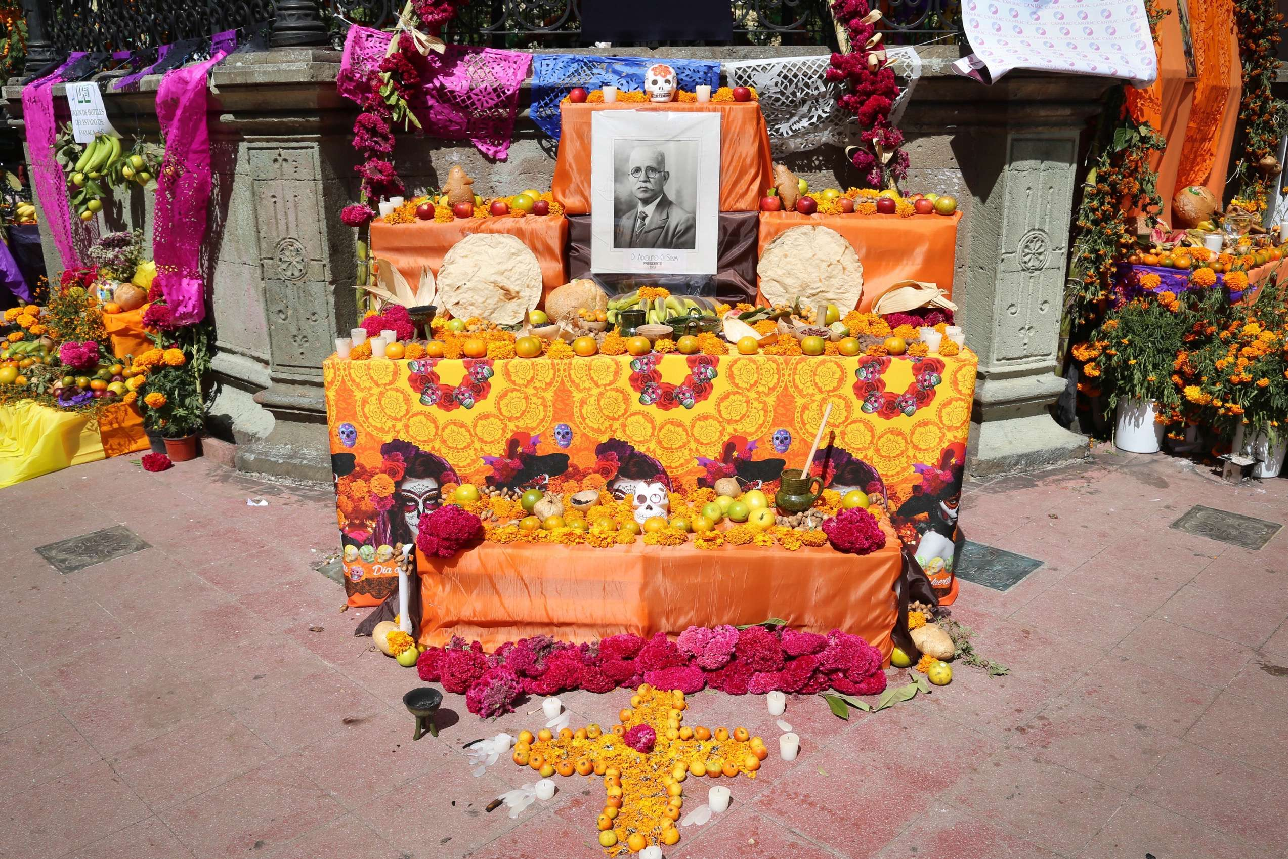 Altars reflect the region of Mexico and the life of the person honored, but most have a portrait of the deceased.