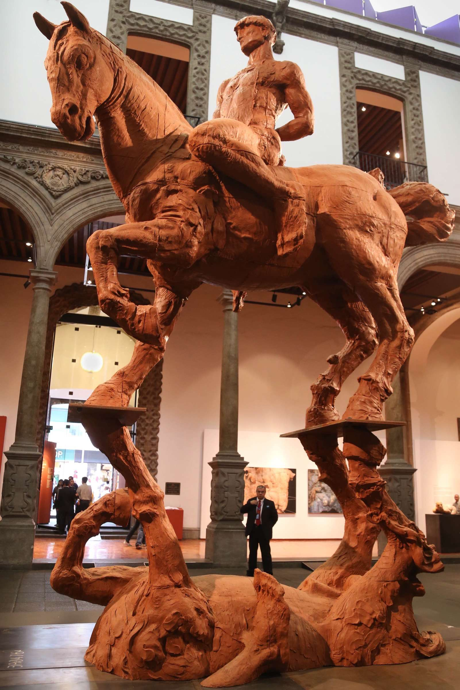 The massive horse-on-horse can be interpreted any number of ways and invites the viewer to visually roam their eyes over the piece.