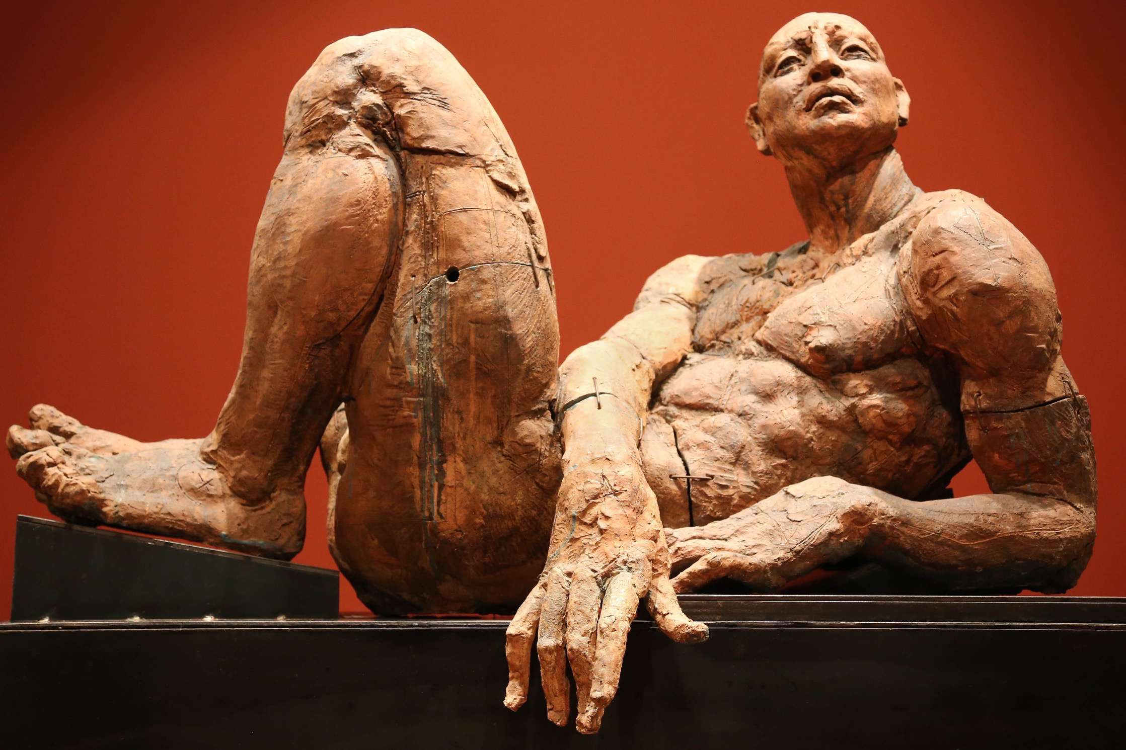 The human figures sculpted by Javier Marin have a life force emanating from within.