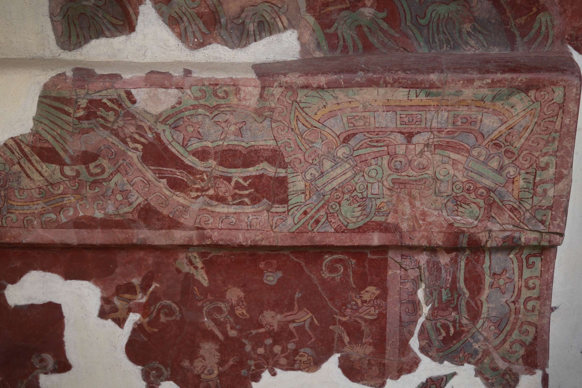Parts of the fresco work from these walls were purchased in the 1960's and ended up with a museum in San Francisco, California. A court decision gave the museum joint custody with the government of Mexico. This is representative of some of that work.