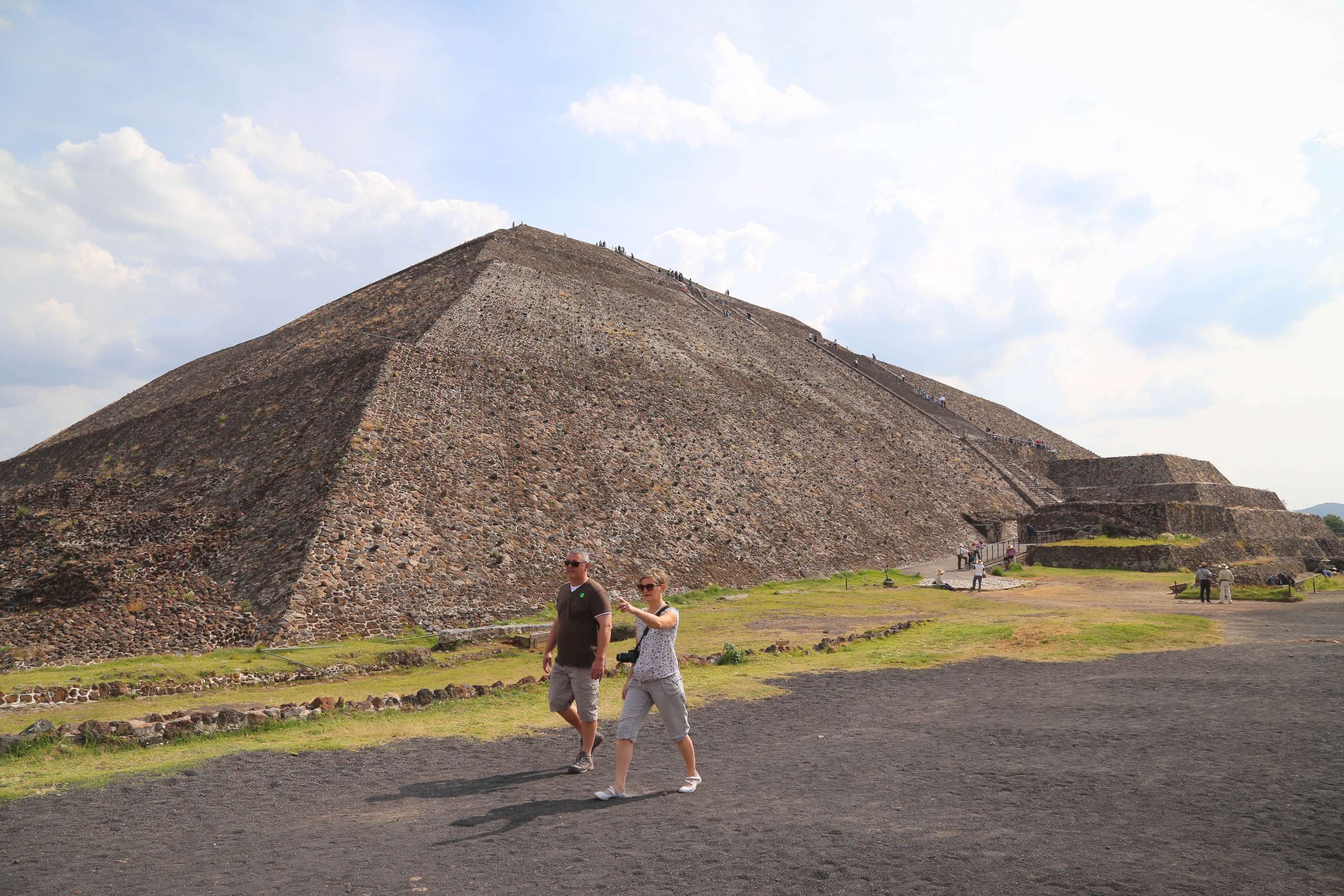 Teotihuacan is the largest pyramid in Mesoamerica and the third largest in the world.