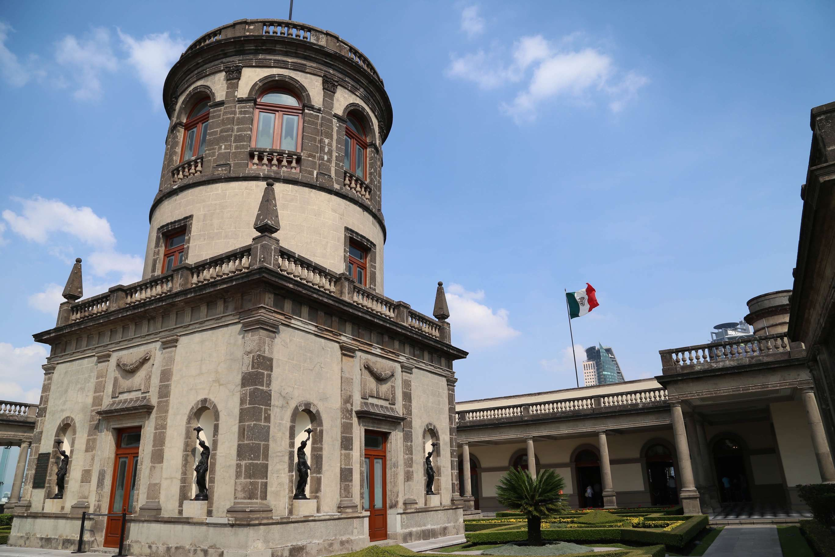 Chapultepec Castle was also home to an early observatory, left, on the upper level of the complex.