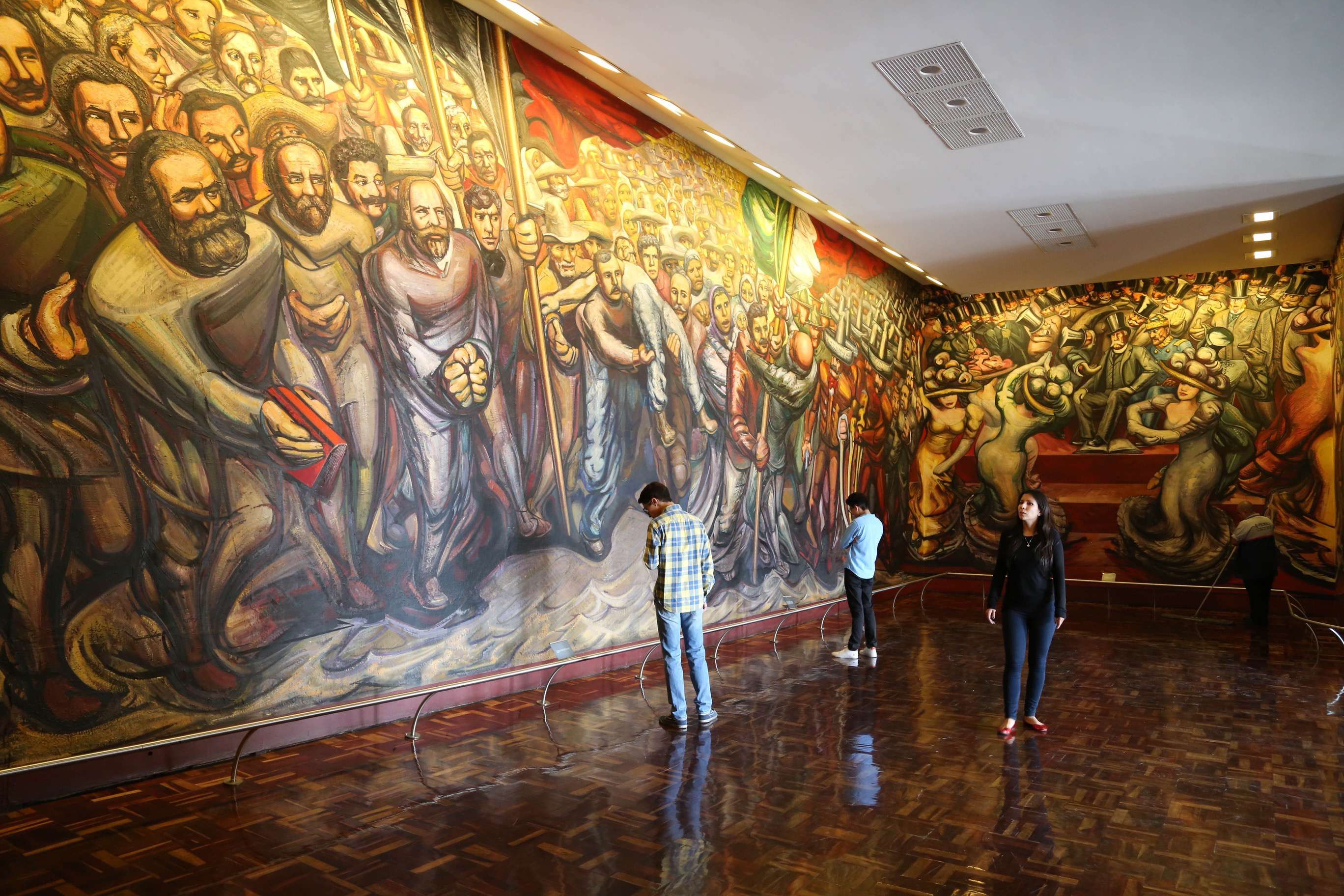 This giant mural at Chapultepec Castle tells of triumph overcoming struggle.