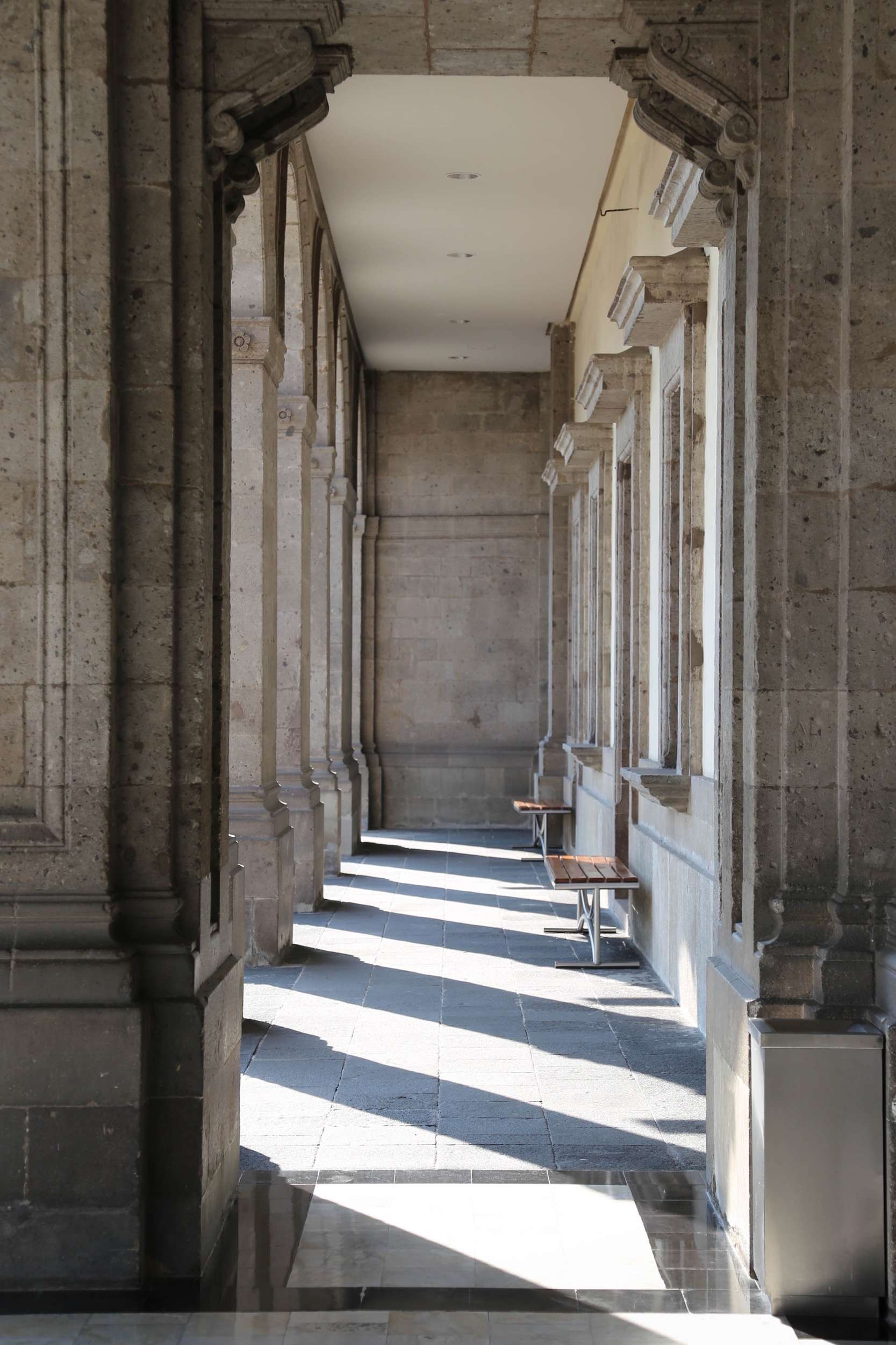 Columns and light, Chapultepec Castle.