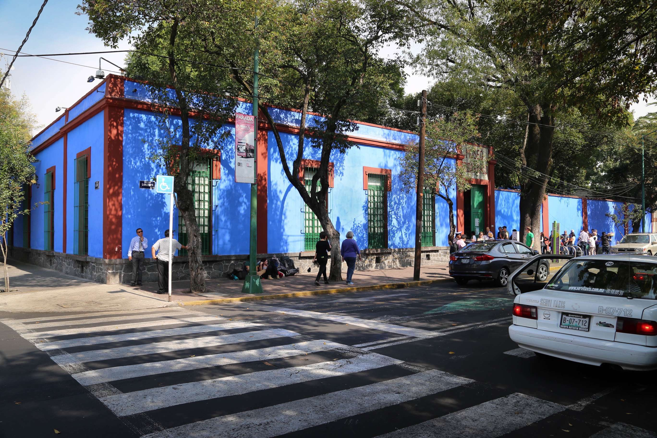 Casa Azul -- the Blue House -- was the Kahlo family home where Frida lived, returned to often and died in.