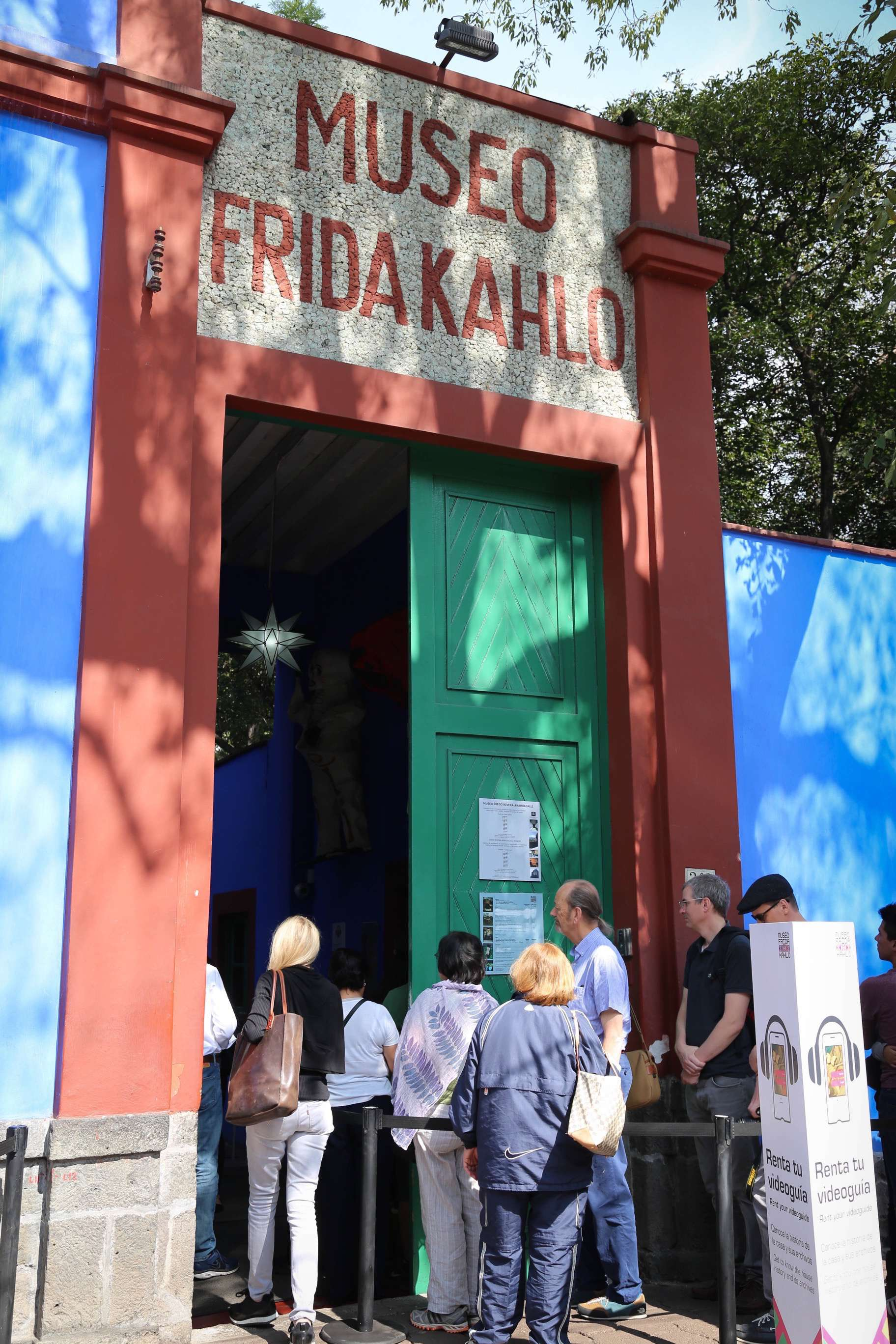 Visitors from all over the world visit Frida Kahlo's Casa Azul, in the Coyocan, now part of Mexico City.