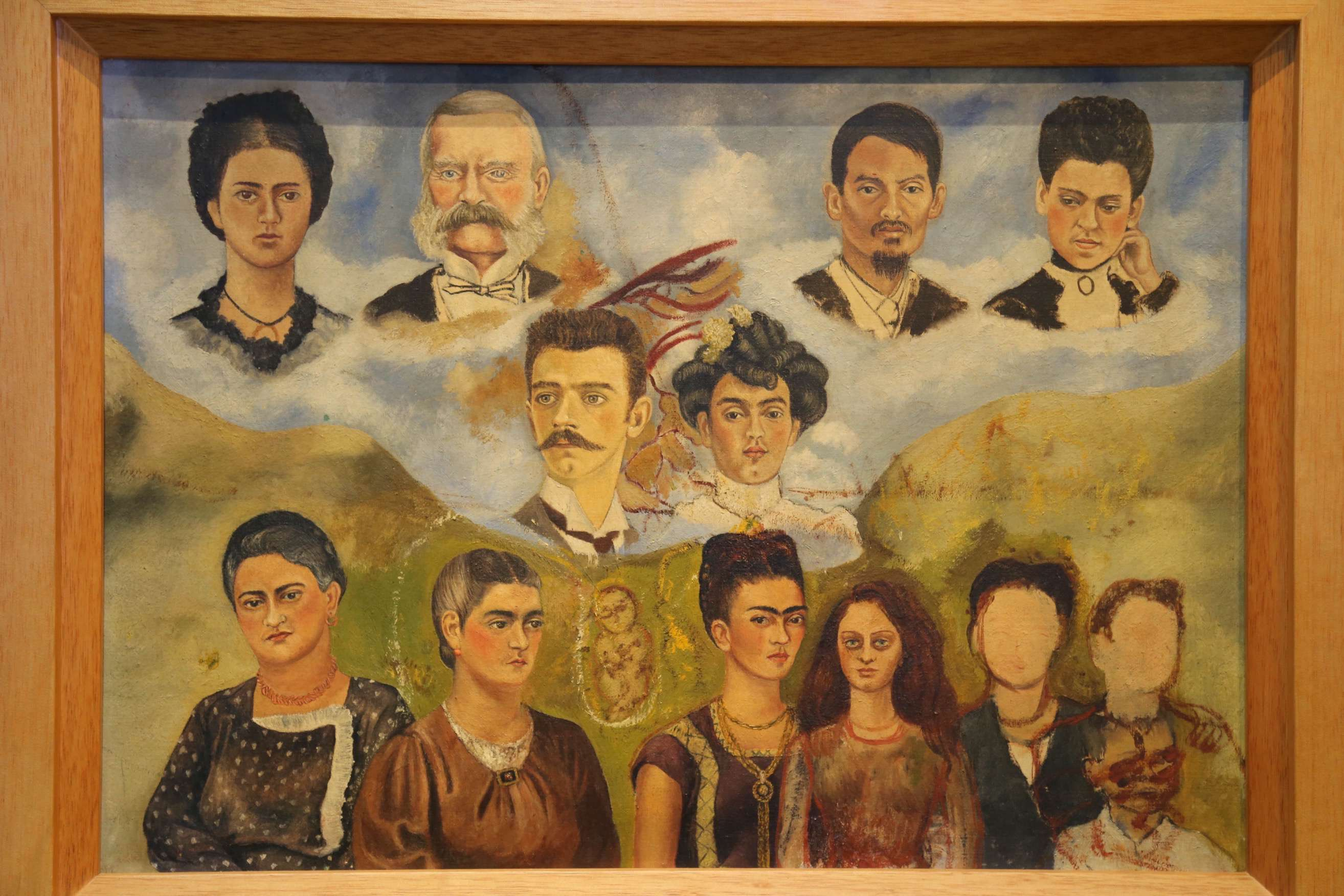 This family portrait done by Frida Kahlo shows the generations of her family and the people important in her life.