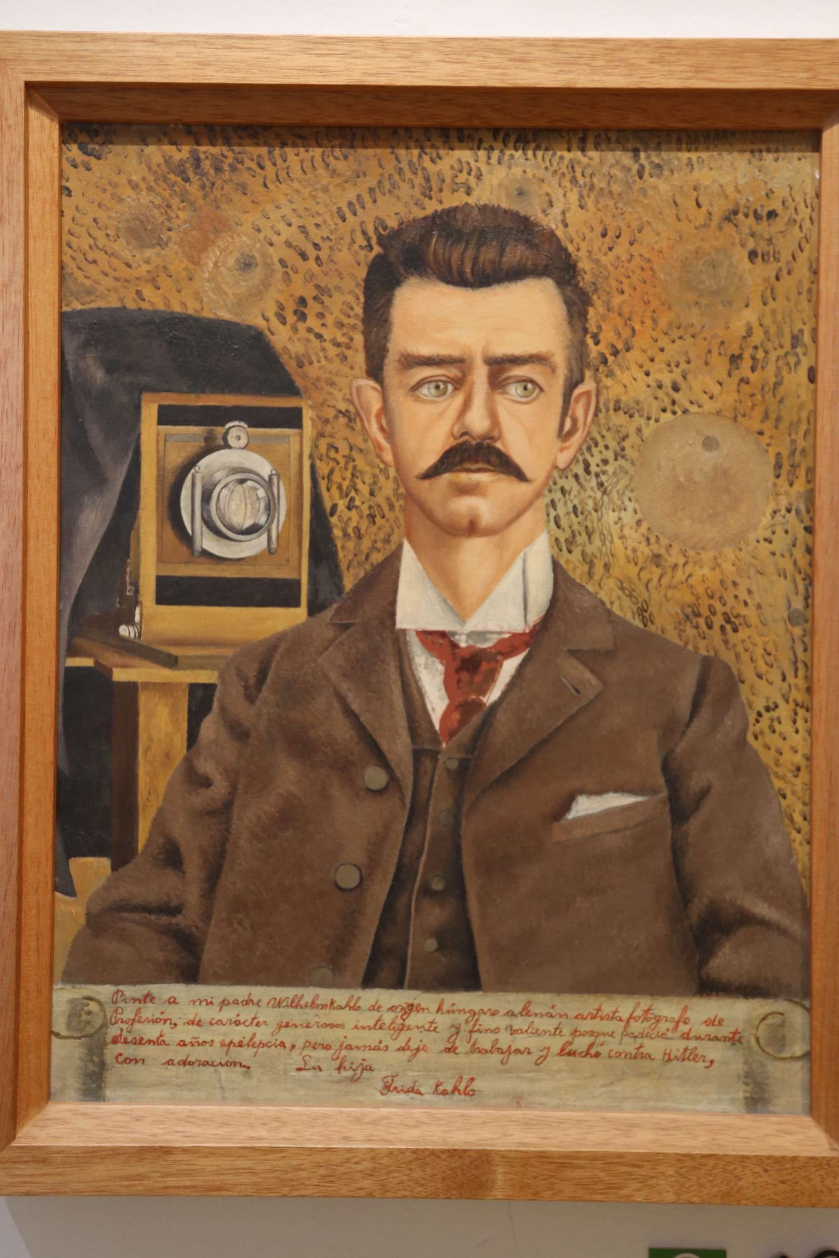 Guillermo Kahlo, Frida's father was a talented and successful photographer in Mexico City, and Frida was the only one of his six children he was close to.