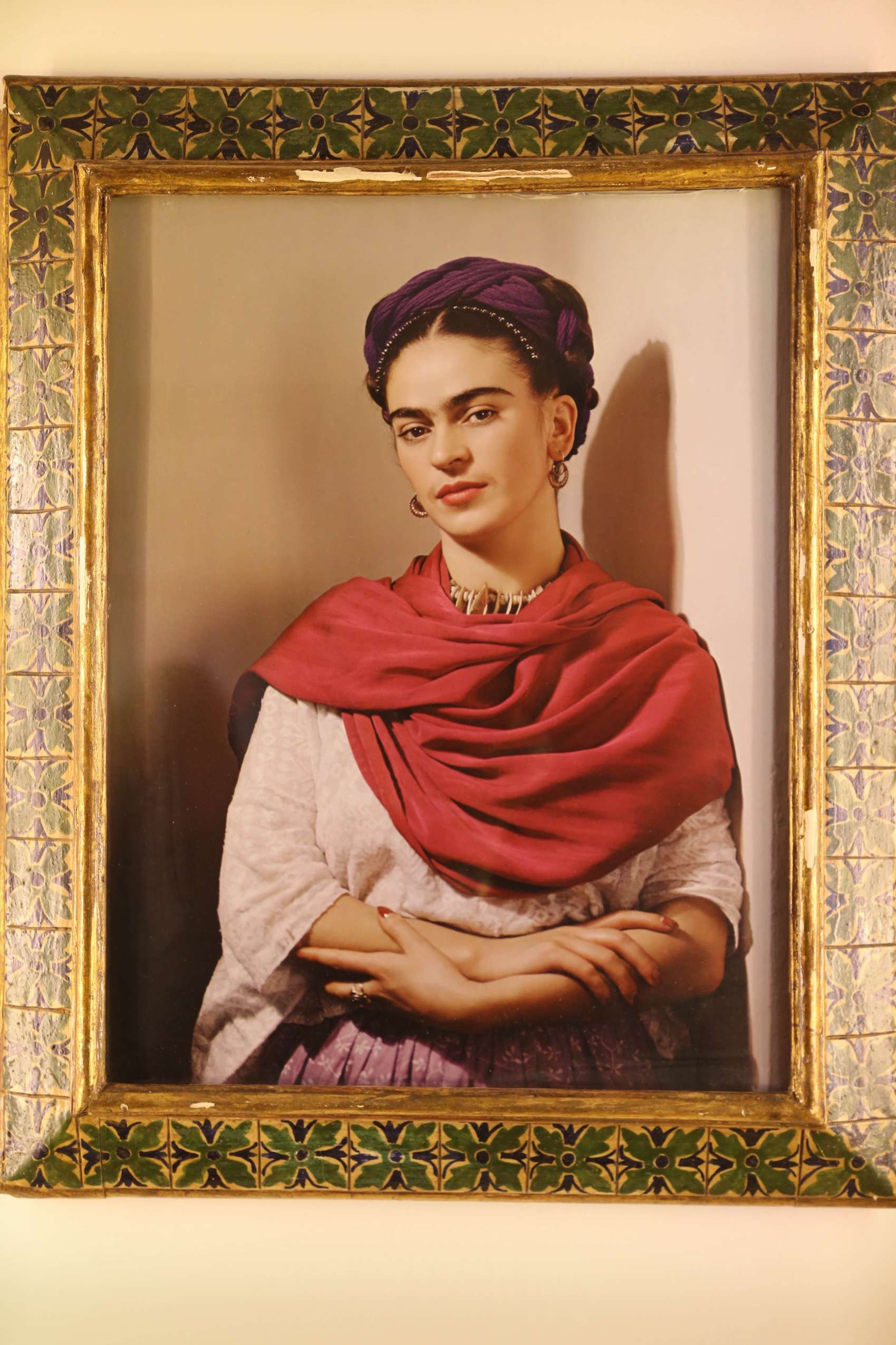 While Guillermo Kahlo photographed Frida when she was a young girl, this portrait was shot by someone else when she was an adult. But Frida knew how to strike a telling pose for a photo.