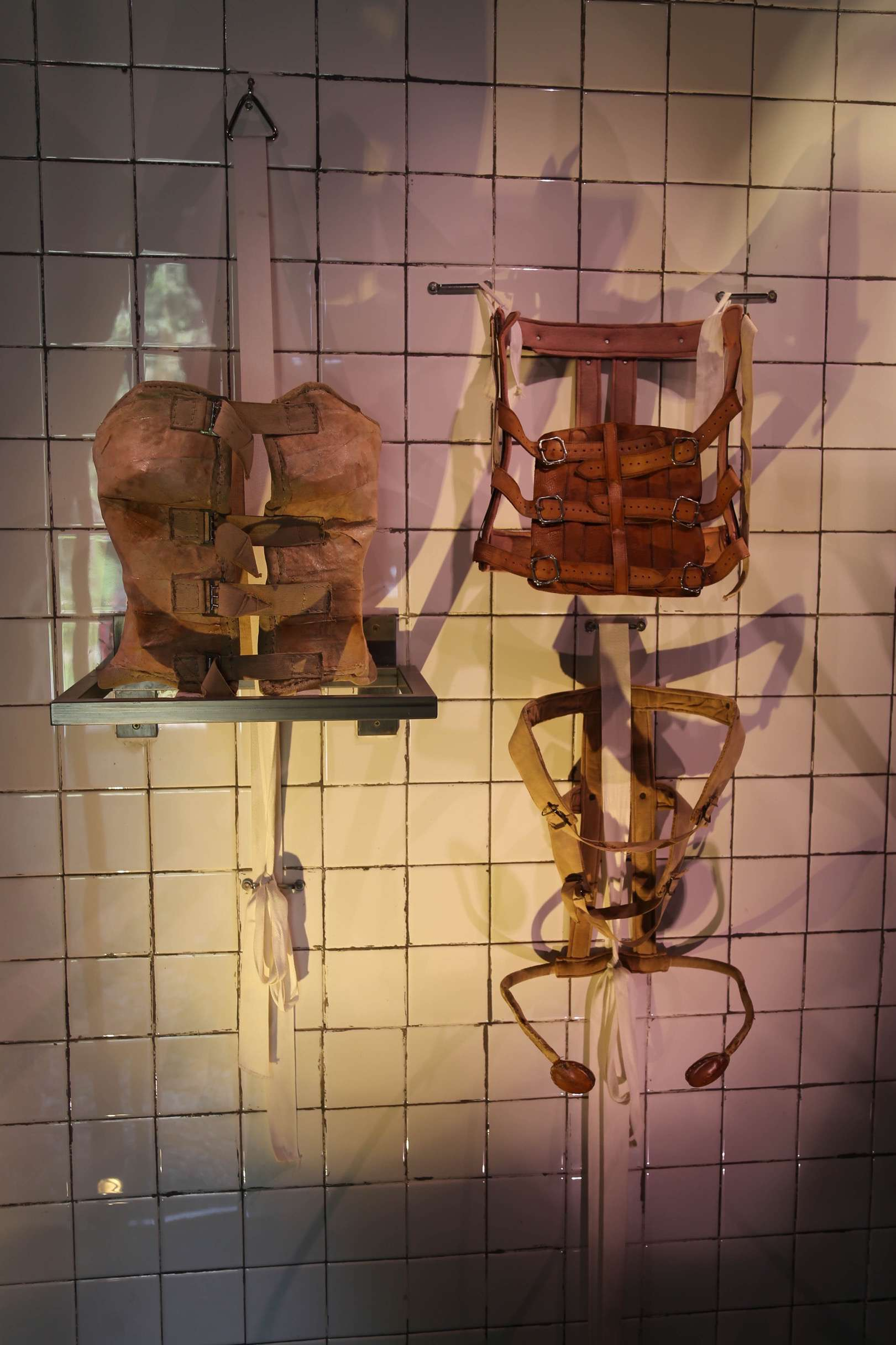 Pain was a constant in Frida Kahlo's life after her terrible accident when she was 18 and these harnesses are examples of what she wore regularly.