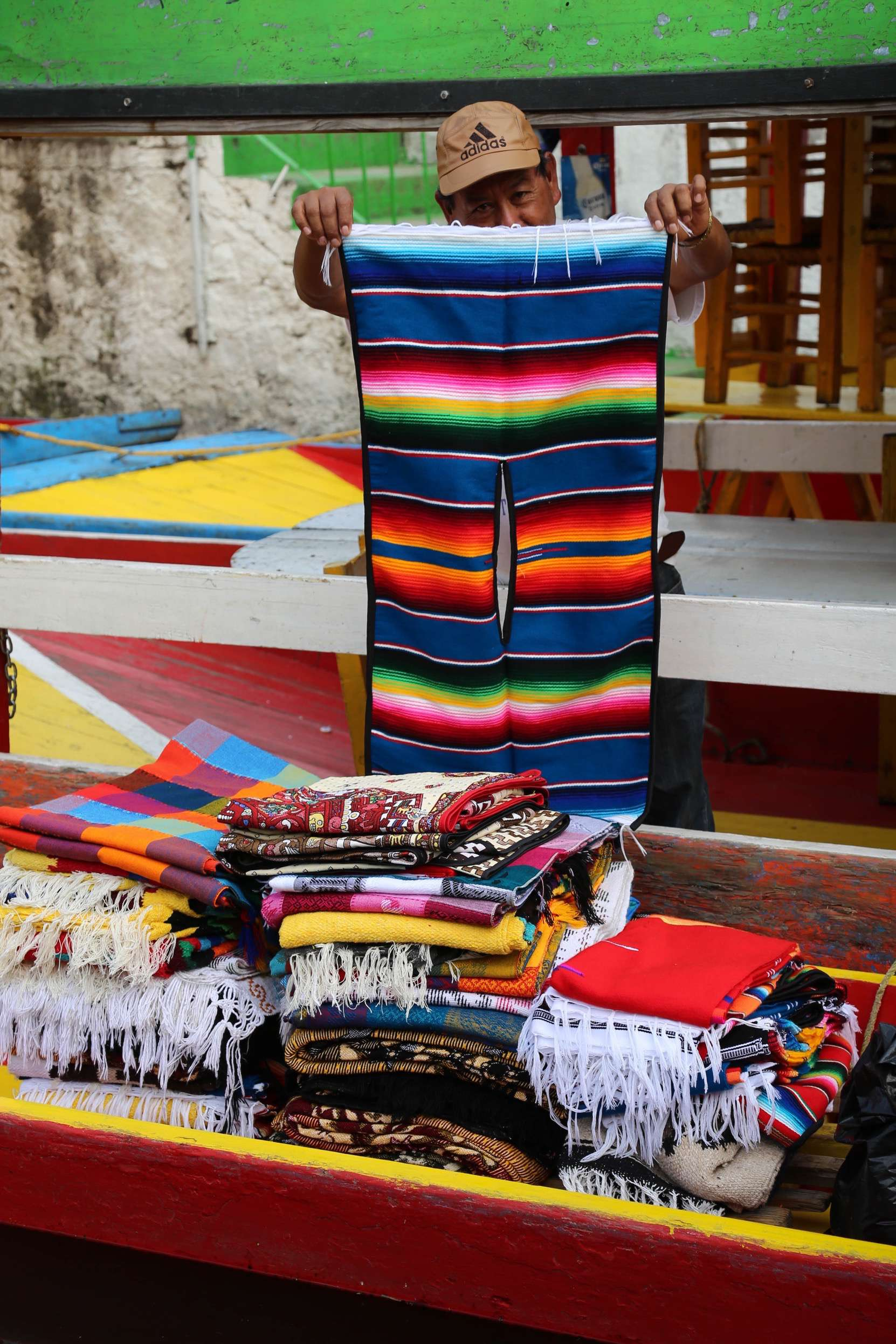 If you feel a chill in the air, you can always buy a serape.