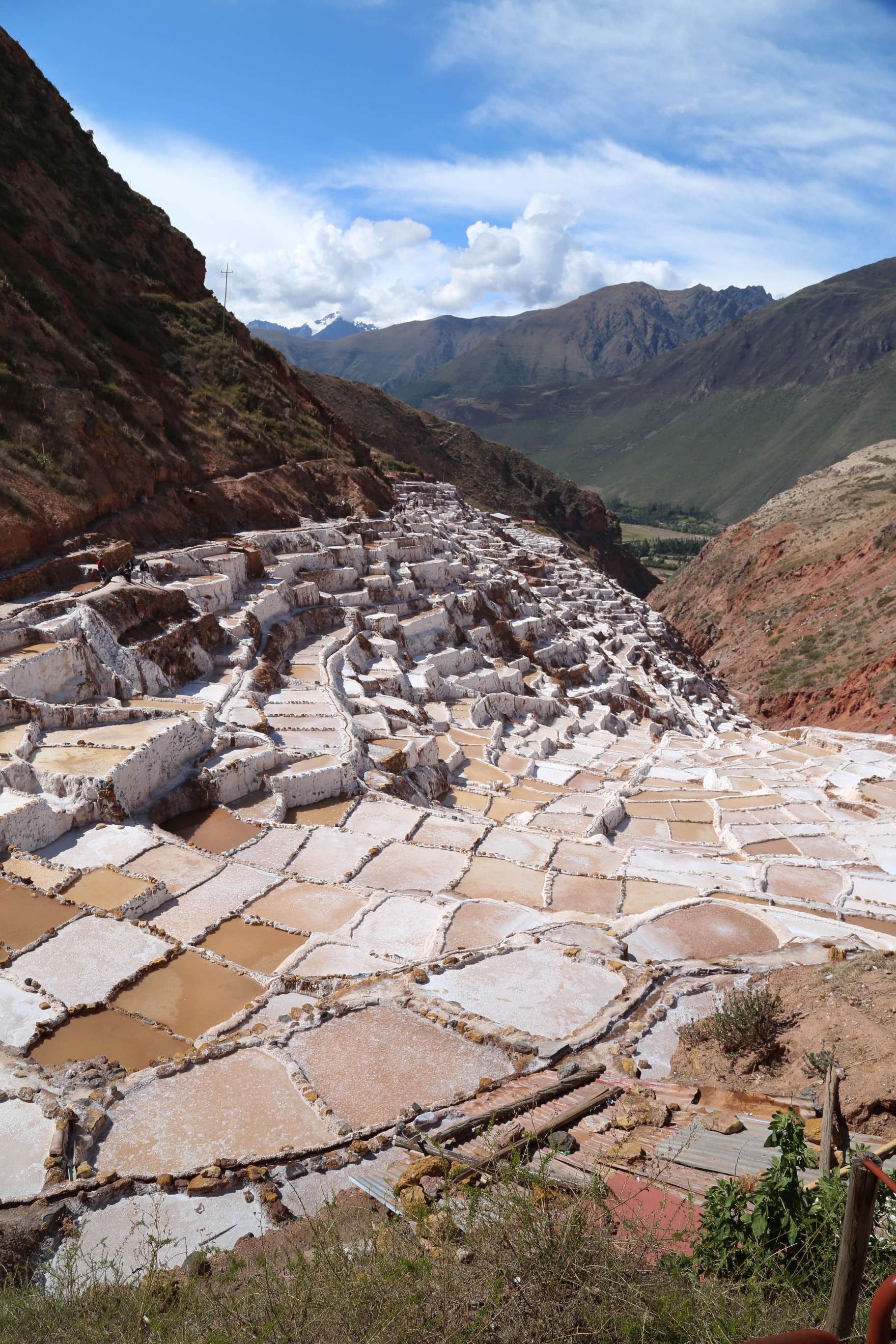 High up in the Andes Moutains, in the upper reaches of Peru's Sacred Valley, the salt works of Maras have been producing this essential compound for centuries.