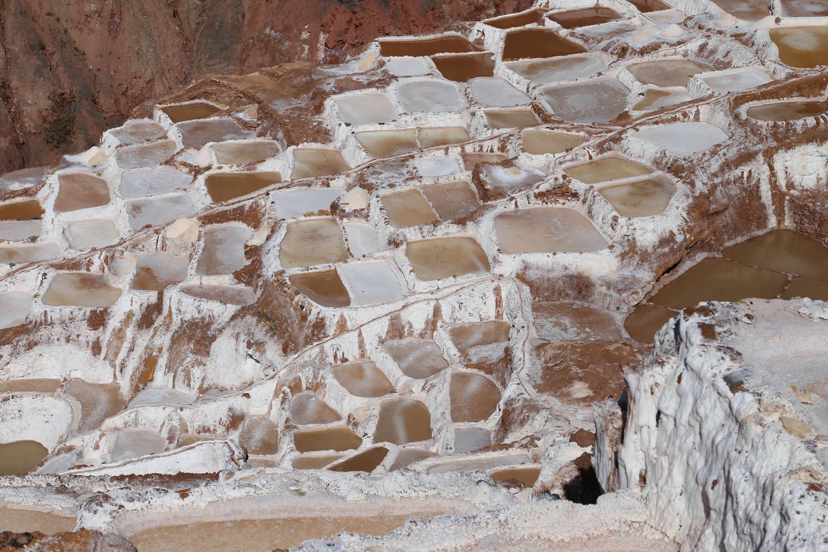 For well over a thousand years, these salt ponds at Maras, Peru have been producing high quality salt.