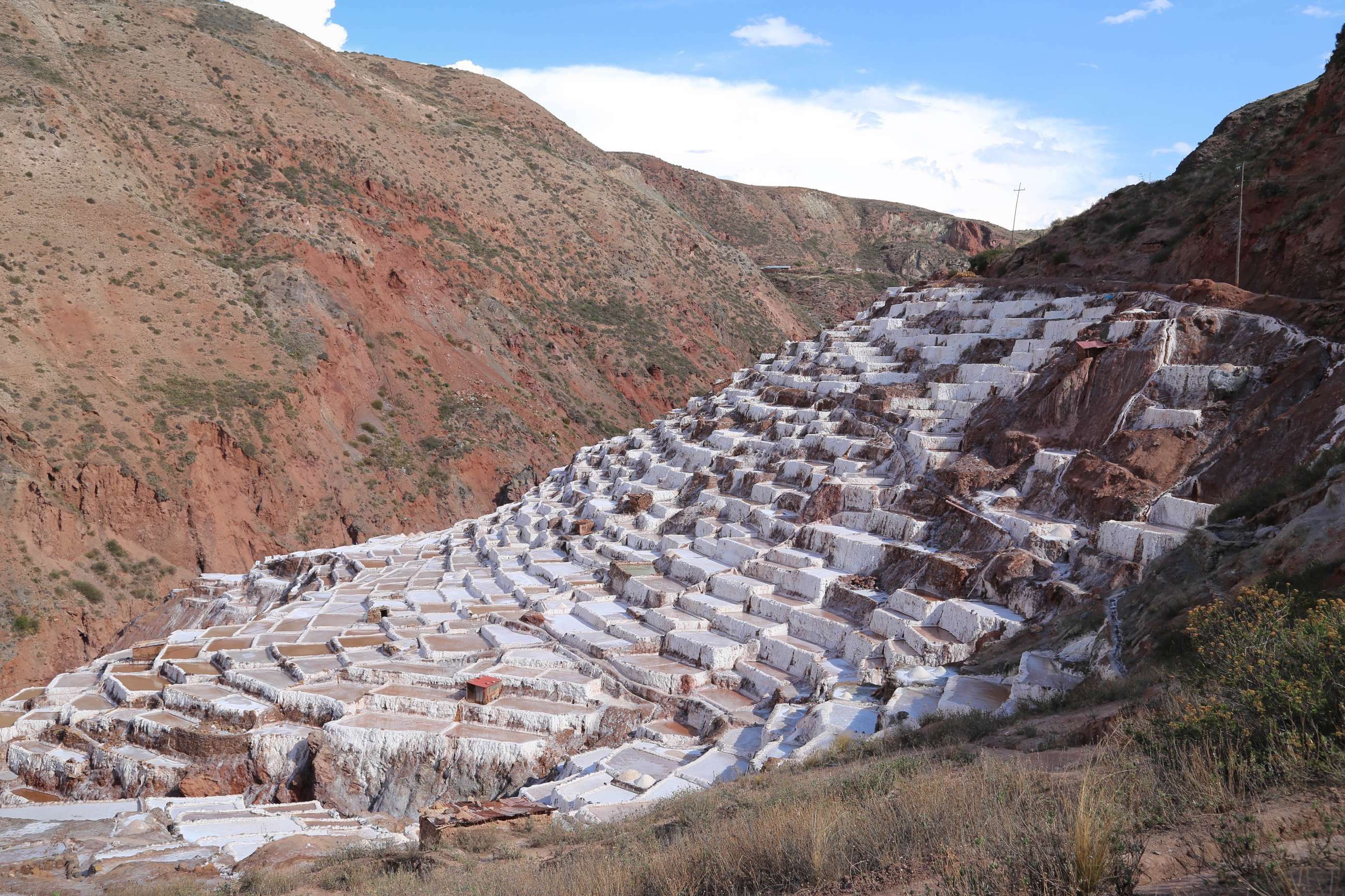 Before there was an Inca Empire in Peru, these salt works at Maras have been producing this essential compound.