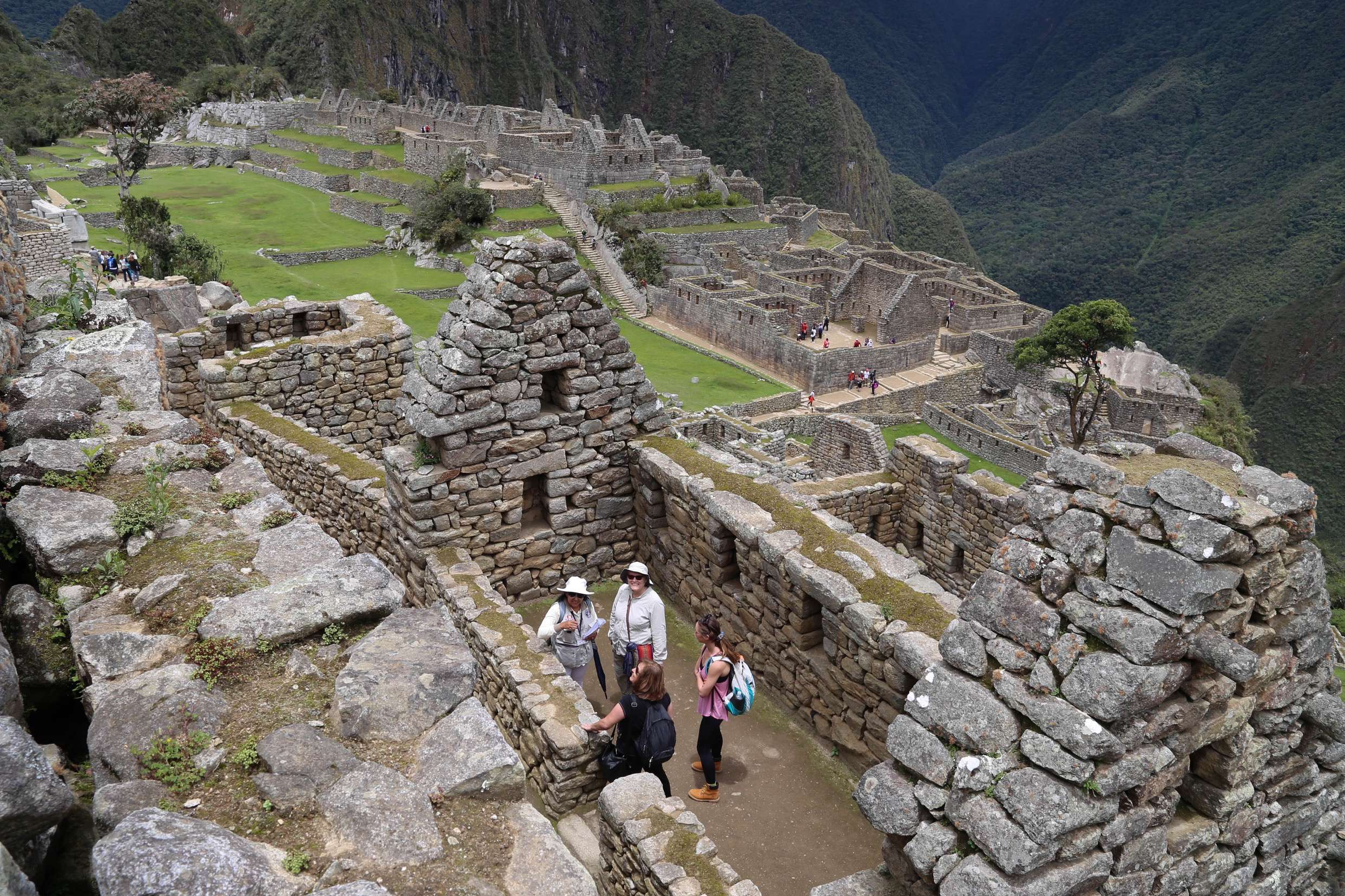 Researchers believe it took thousands of workers to construct Machu Picchu, but less than 1,000 people lived there.