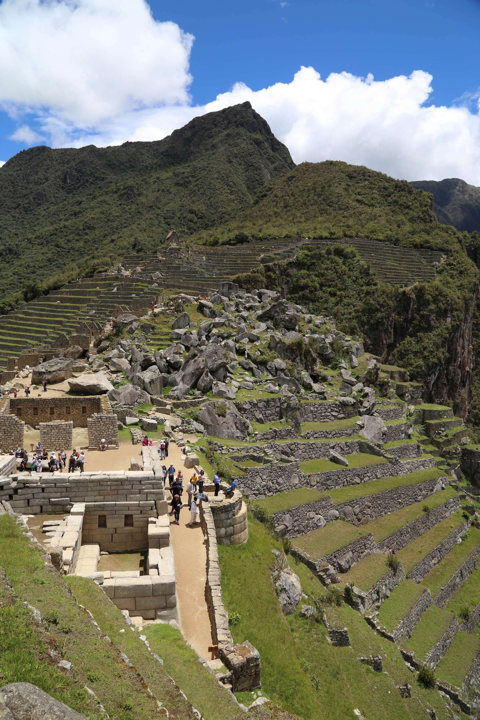 The scale of Machu Picchu is huge, yeat at the same time it blends with harmony into the hillsides and mountains.