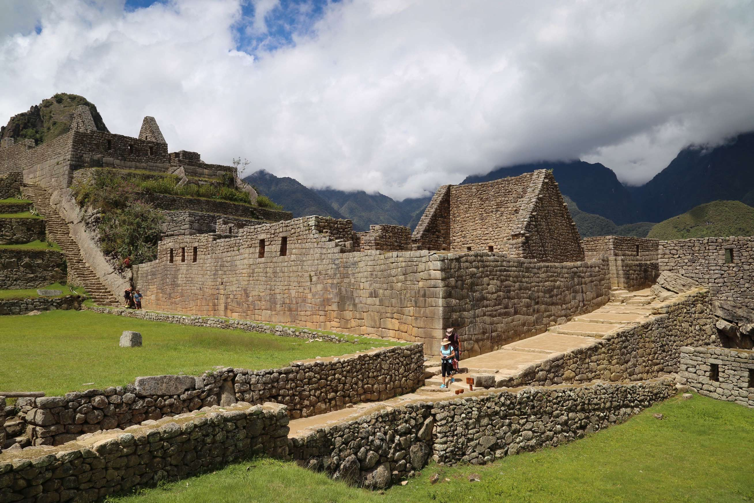 On many days Machu Picchu is shrouded in clouds but when the sun peeks out, there's an added dimension to its beauty.