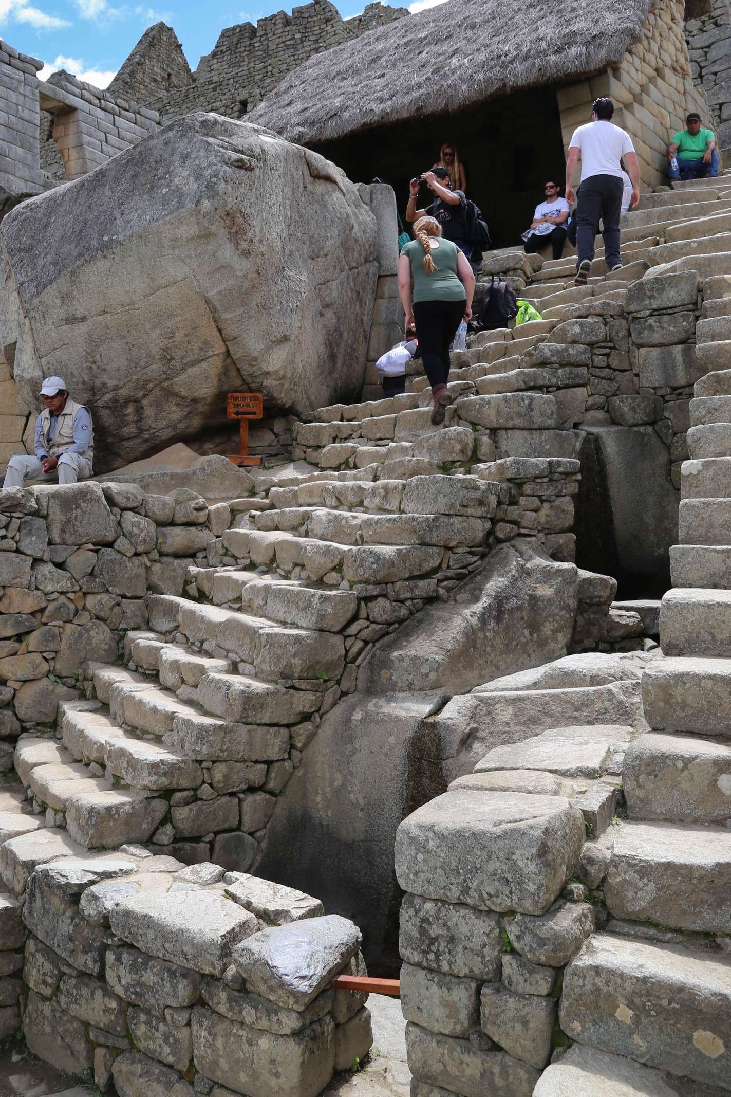 Engineering, construction and hydrology were just a few of the highly developed skills the Incas employed when building Machu Picchu. Here, center right, a small fountain, one of 16 at Machu Picchu, provided water to those who lived here.