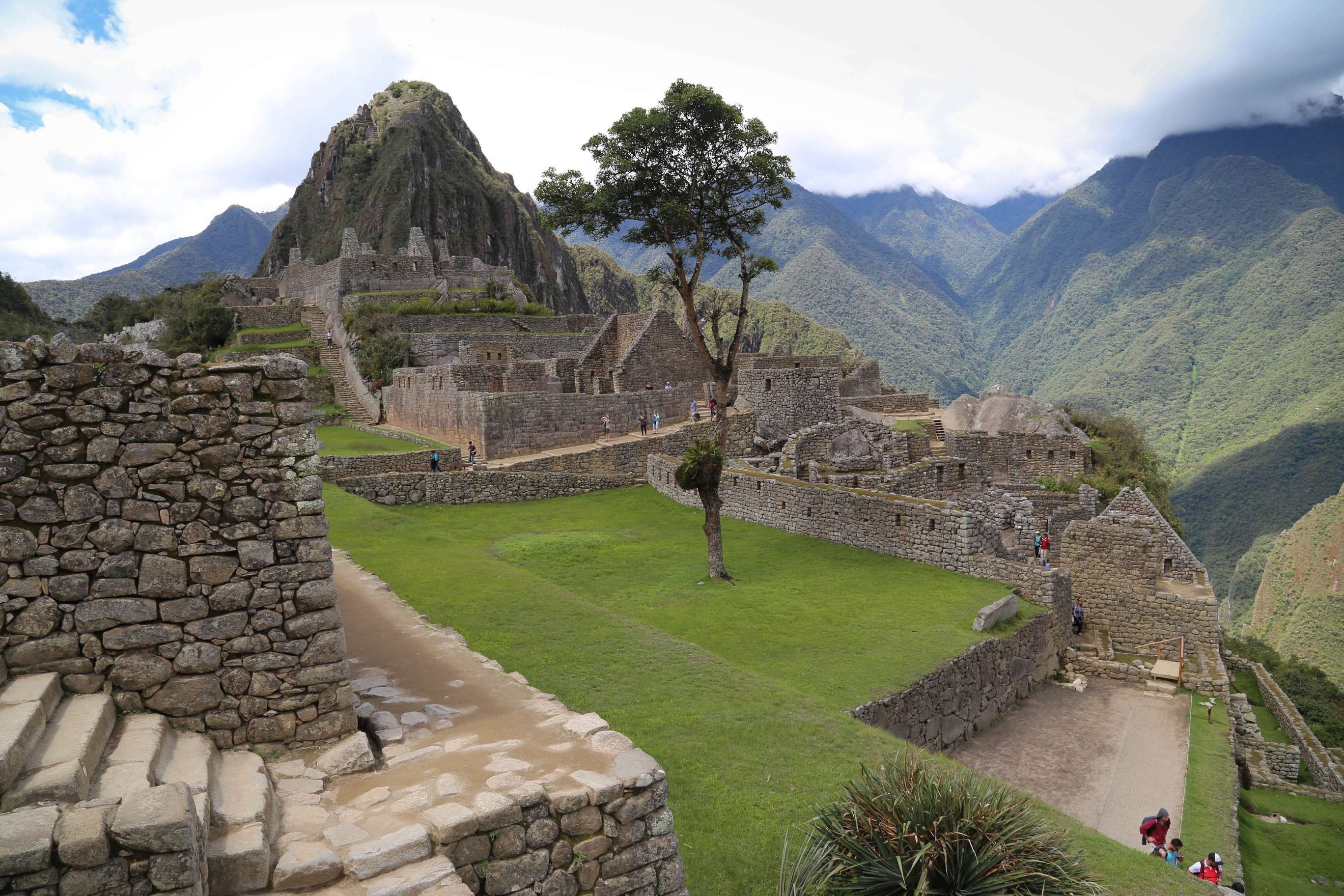 Machu Picchu is a place that is serene and also blends in with Nature.