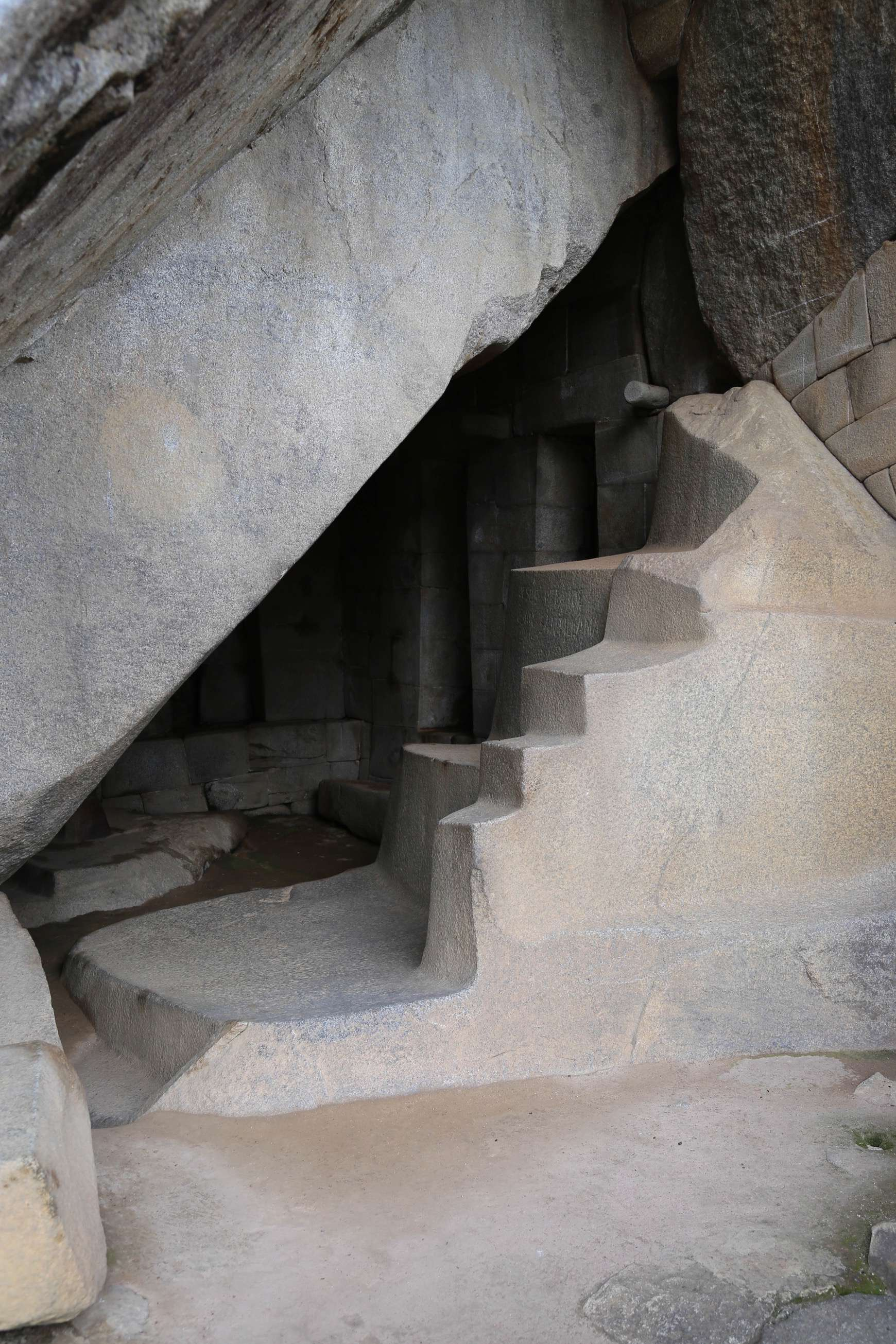 It took skill -- and determination -- to fashion these stairs from rock, using only other rocks.