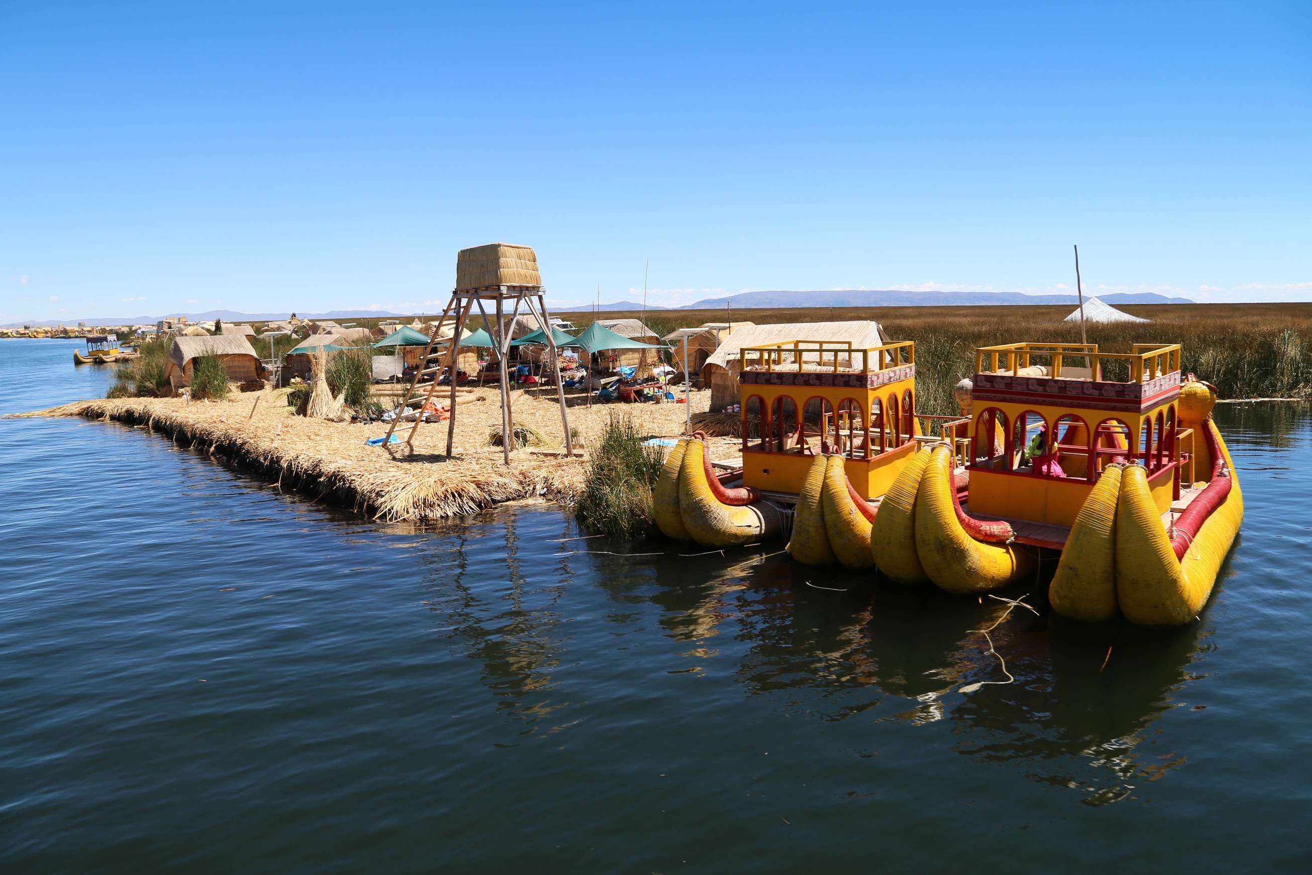 The Uros people have been living on floating islands for thousands of years, built out of reeds.